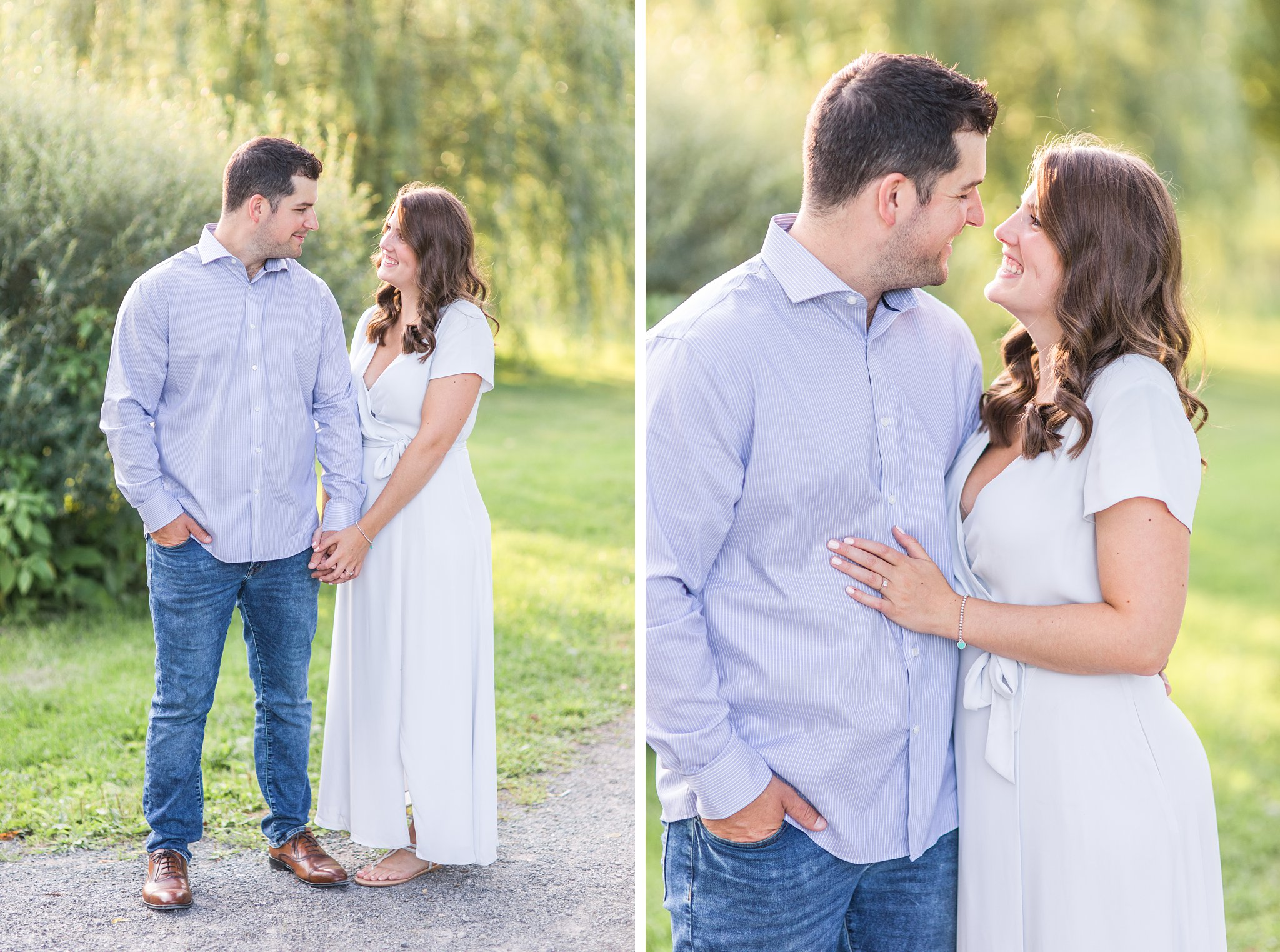 Bride and groom, outfit, couple, Fletcher's Wildlife Garden Engagement photos