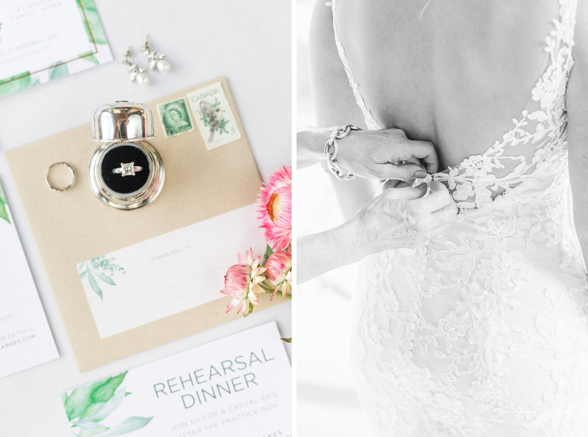 Lace back dress, vintage ring box, Private Estate Wedding Photos, Amy Pinder Photography