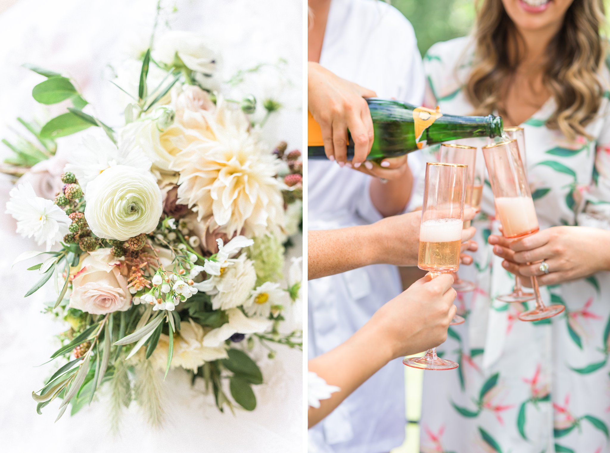 Berry bouquet, bridal, pink champagne, Private Estate Wedding Photos, Amy Pinder Photography