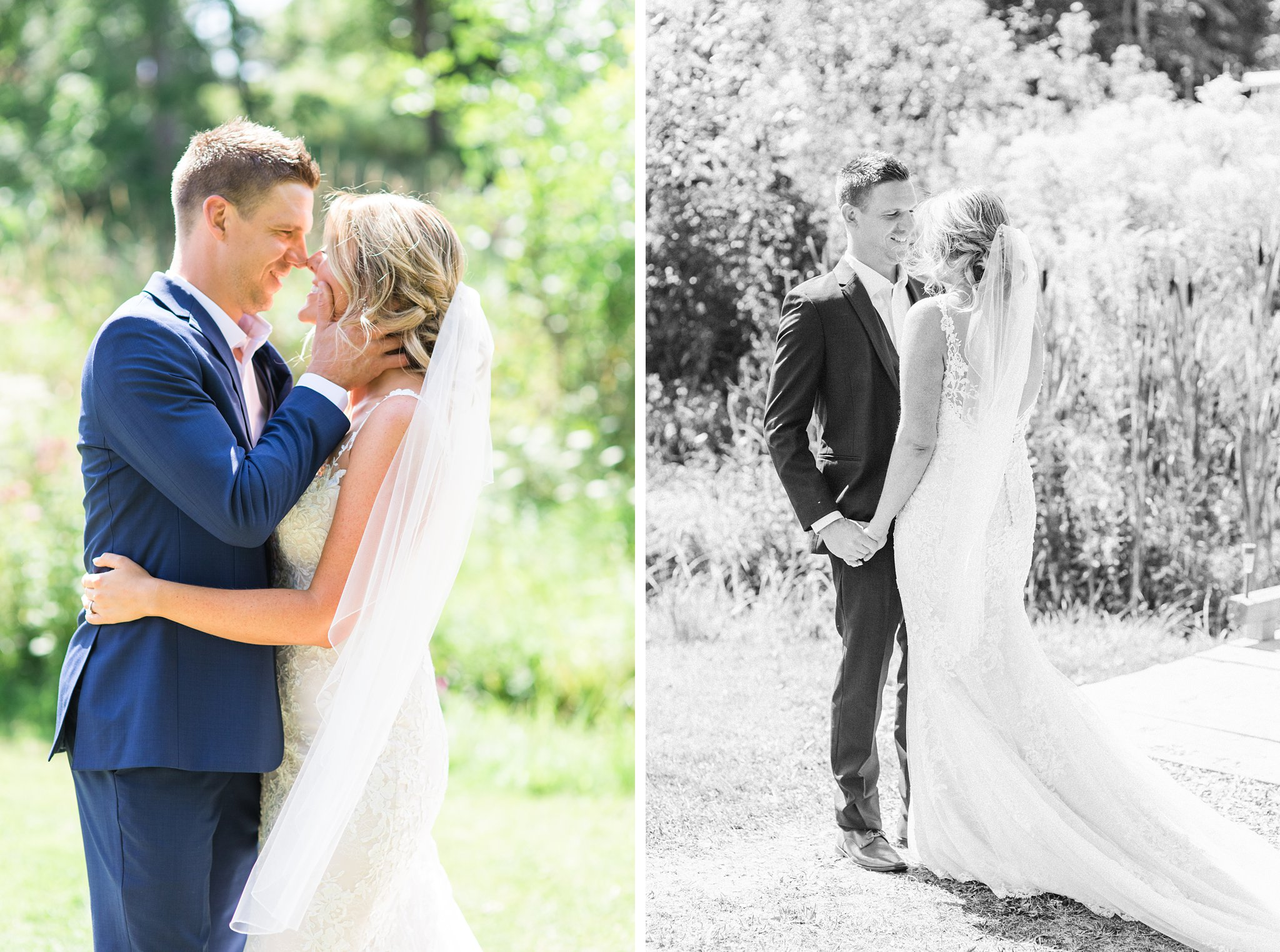 First look, outside, green grass, Private Estate Wedding Photos, Amy Pinder Photography