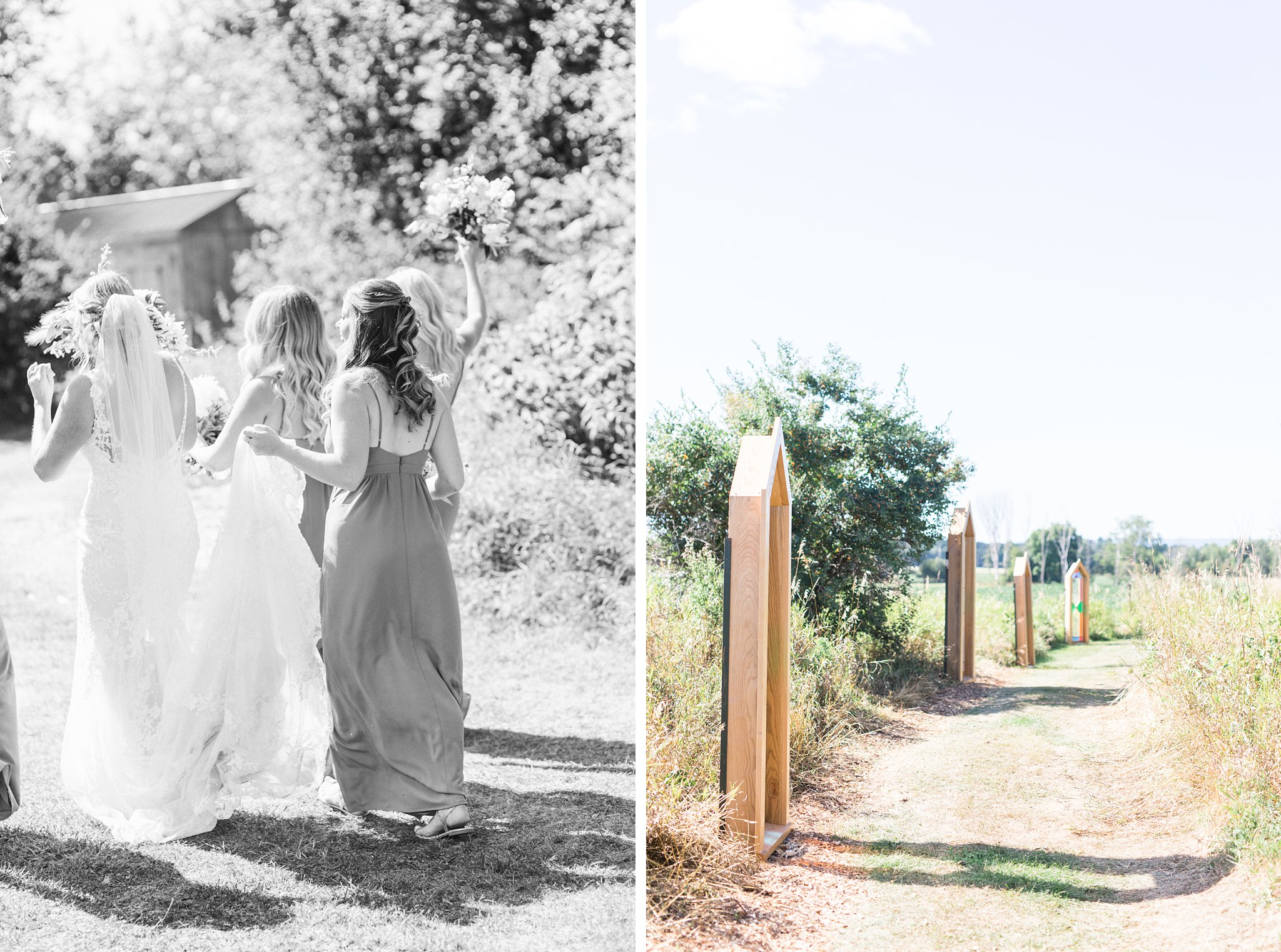 Path to ceremony, stained glass, Private Estate Wedding Photos, Amy Pinder Photography