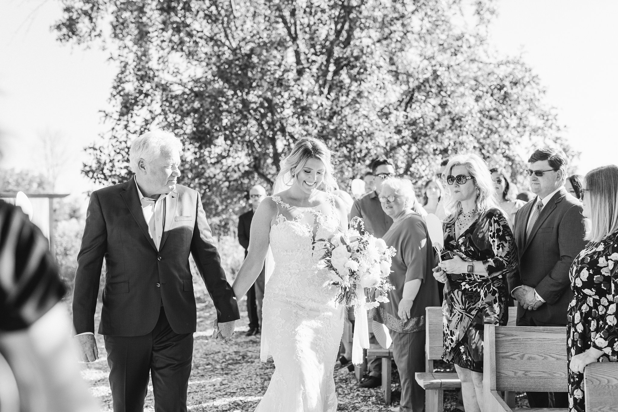 Bride walks down the aisle, Private Estate Wedding Photos, Amy Pinder Photography
