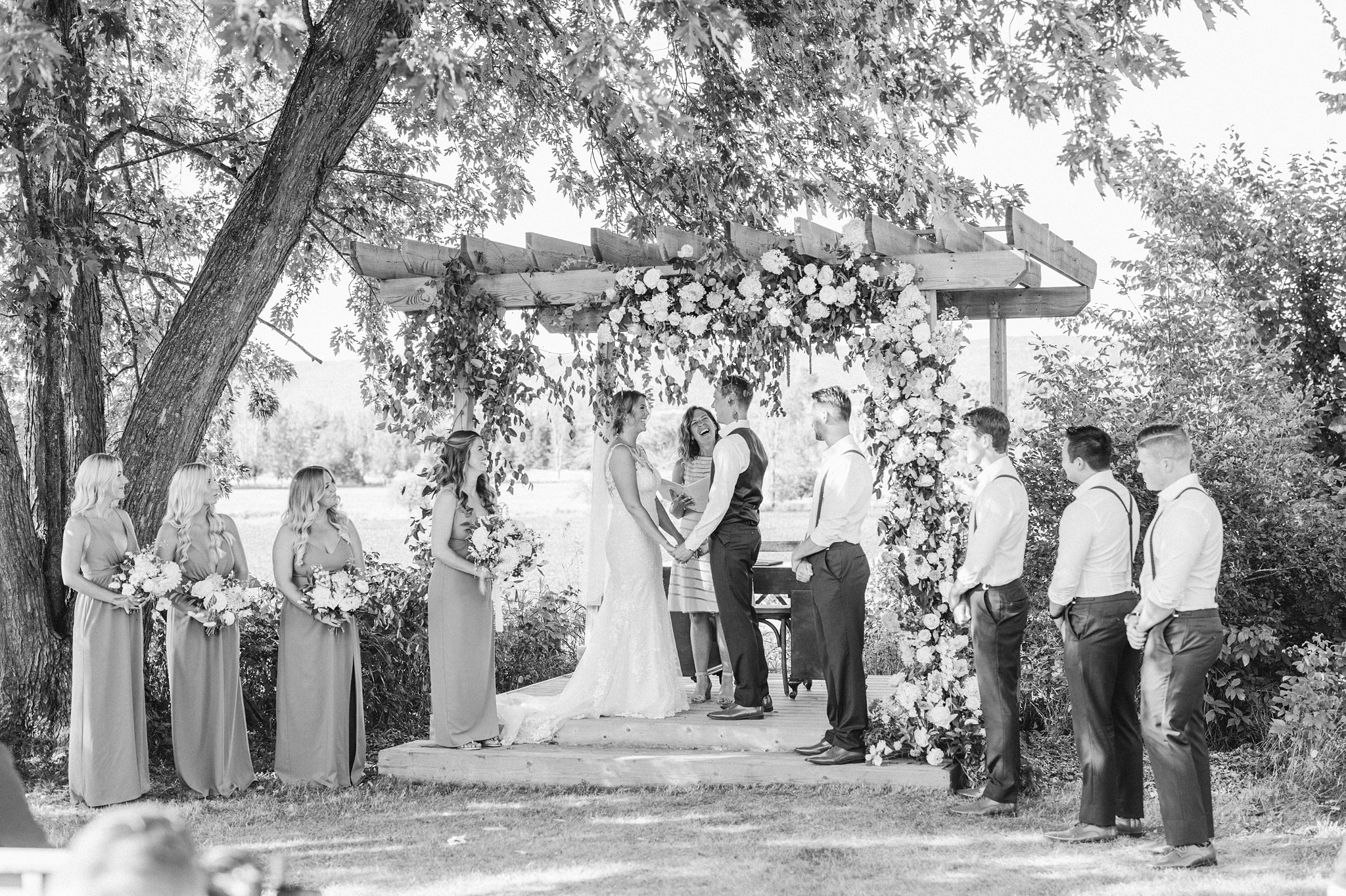 Outdoor ceremony, Private Estate Wedding Photos, Amy Pinder Photography