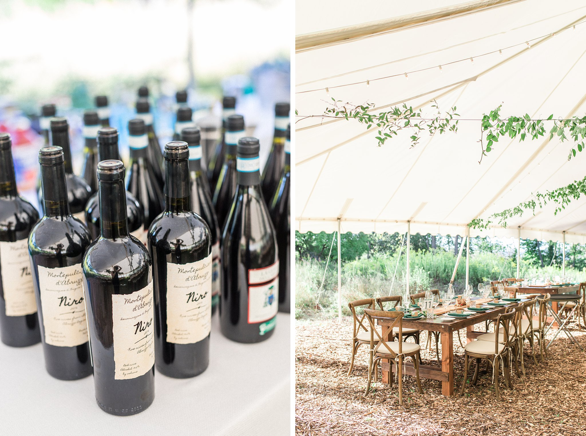 Reception tent, outdoor, wood table, cross back chair, Private Estate Wedding Photos, Amy Pinder Photography