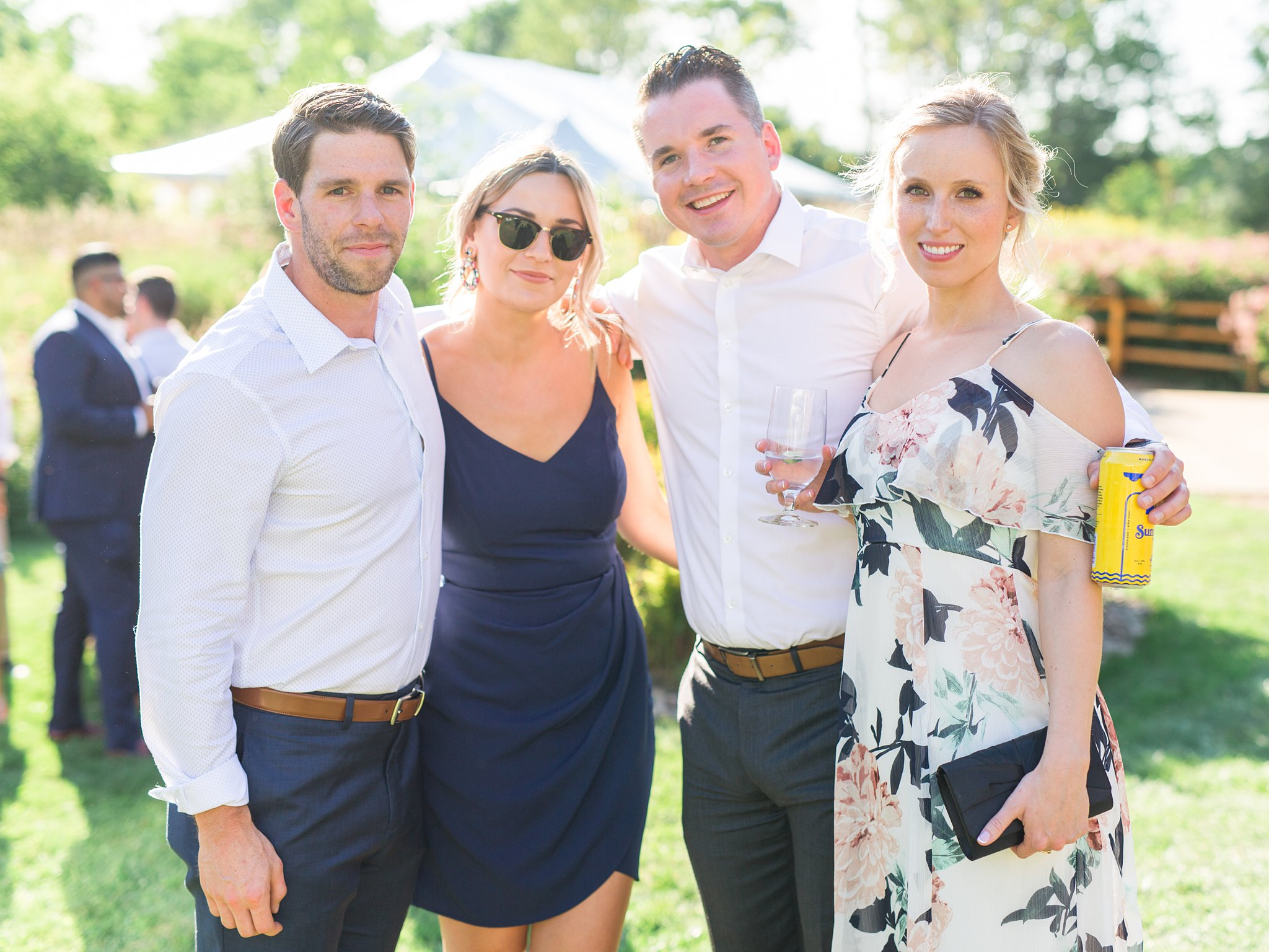 Guests, cocktail hour, Private Estate Wedding Photos, Amy Pinder Photography