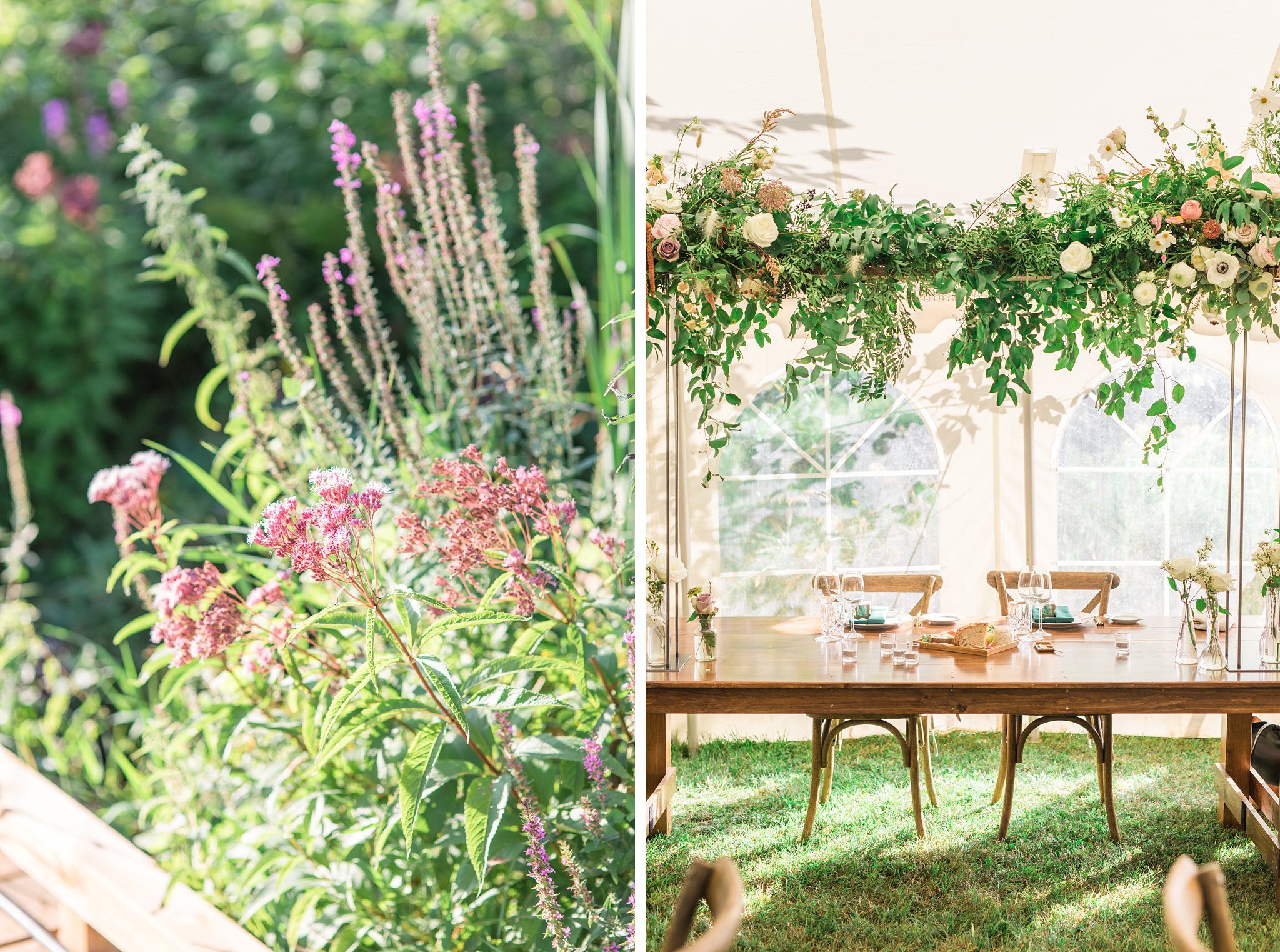 Head table, greenery, Private Estate Wedding Photos, Amy Pinder Photography