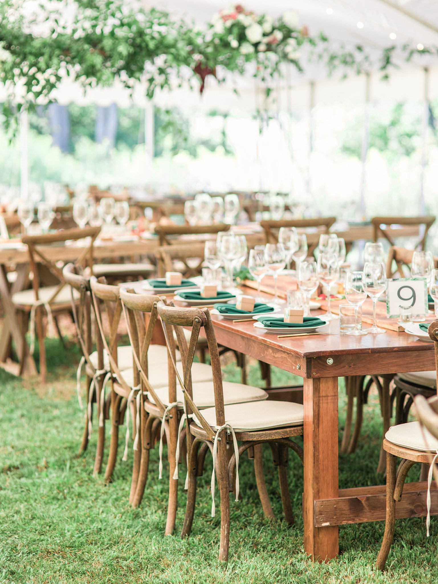 Vineyard chair, wooden table, Private Estate Wedding Photos, Amy Pinder Photography