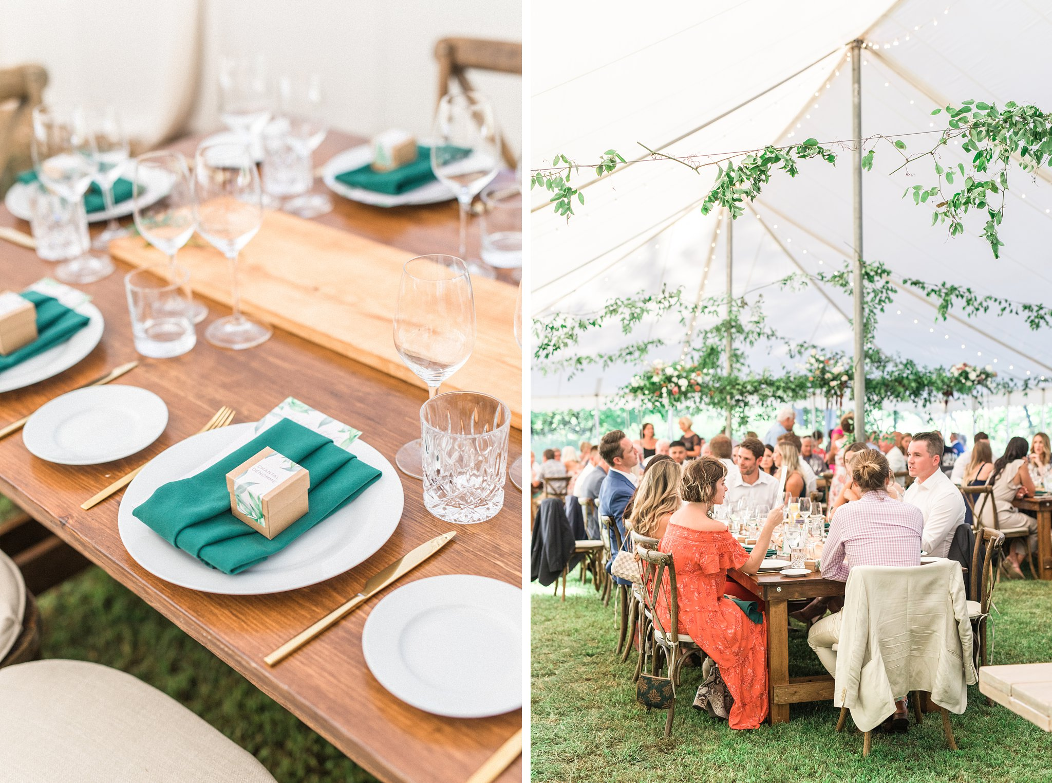 Guests under wedding tent, Private Estate Wedding Photos, Amy Pinder Photography