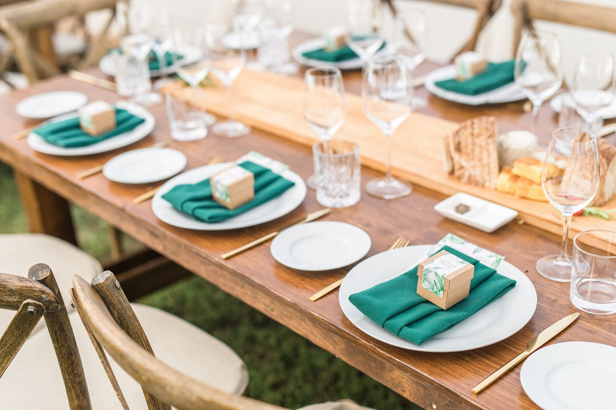 Gold cutlery, guest table, Private Estate Wedding Photos, Amy Pinder Photography