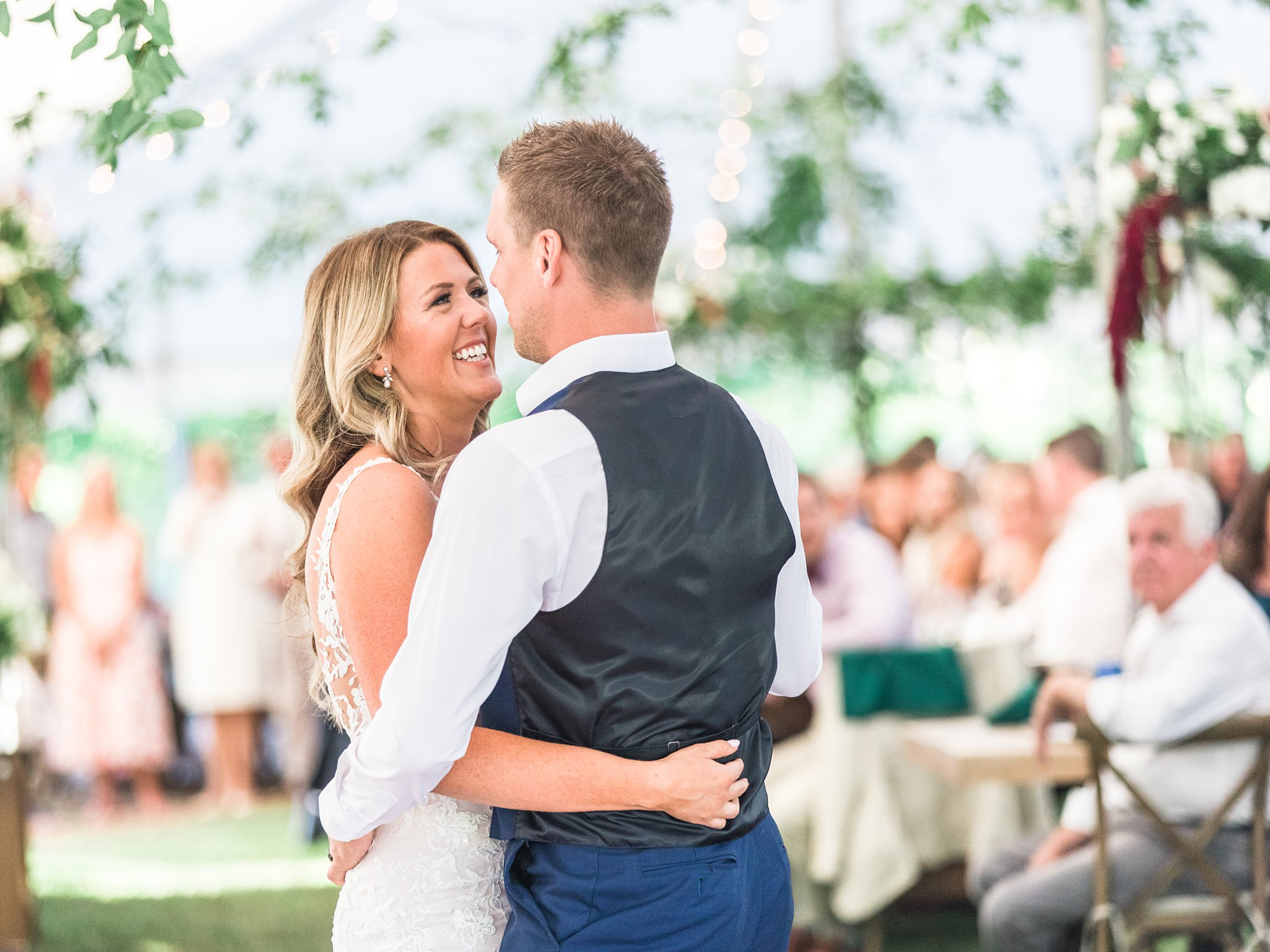 Bride and Groom's first dance, Private Estate Wedding Photos, Amy Pinder Photography