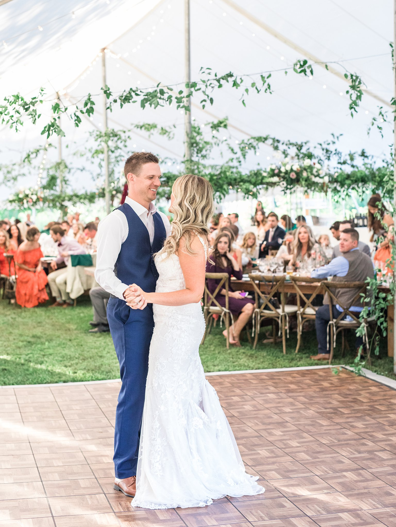 First dance, wedding tent, Private Estate Wedding Photos, Amy Pinder Photography