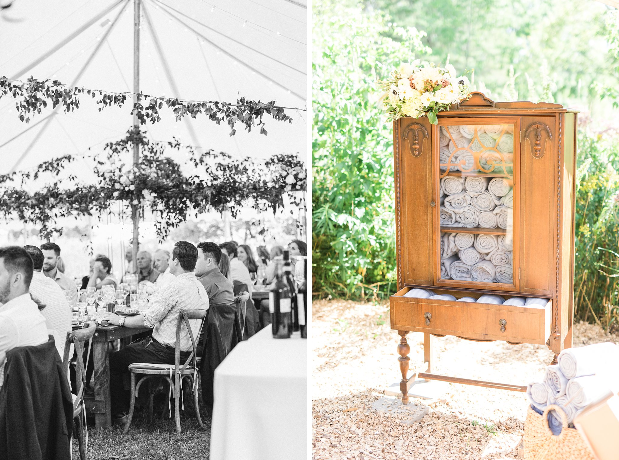 Blankets for guests, Private Estate Wedding Photos, Amy Pinder Photography