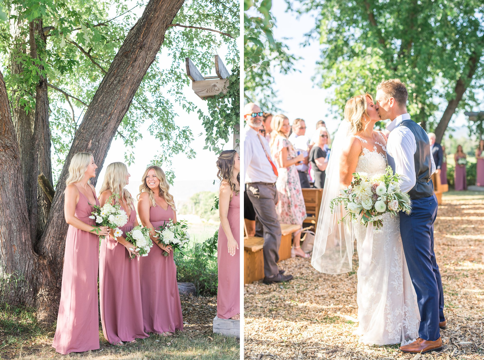 Outdoor ceremony, tree, Private Estate Wedding Photos, Amy Pinder Photography
