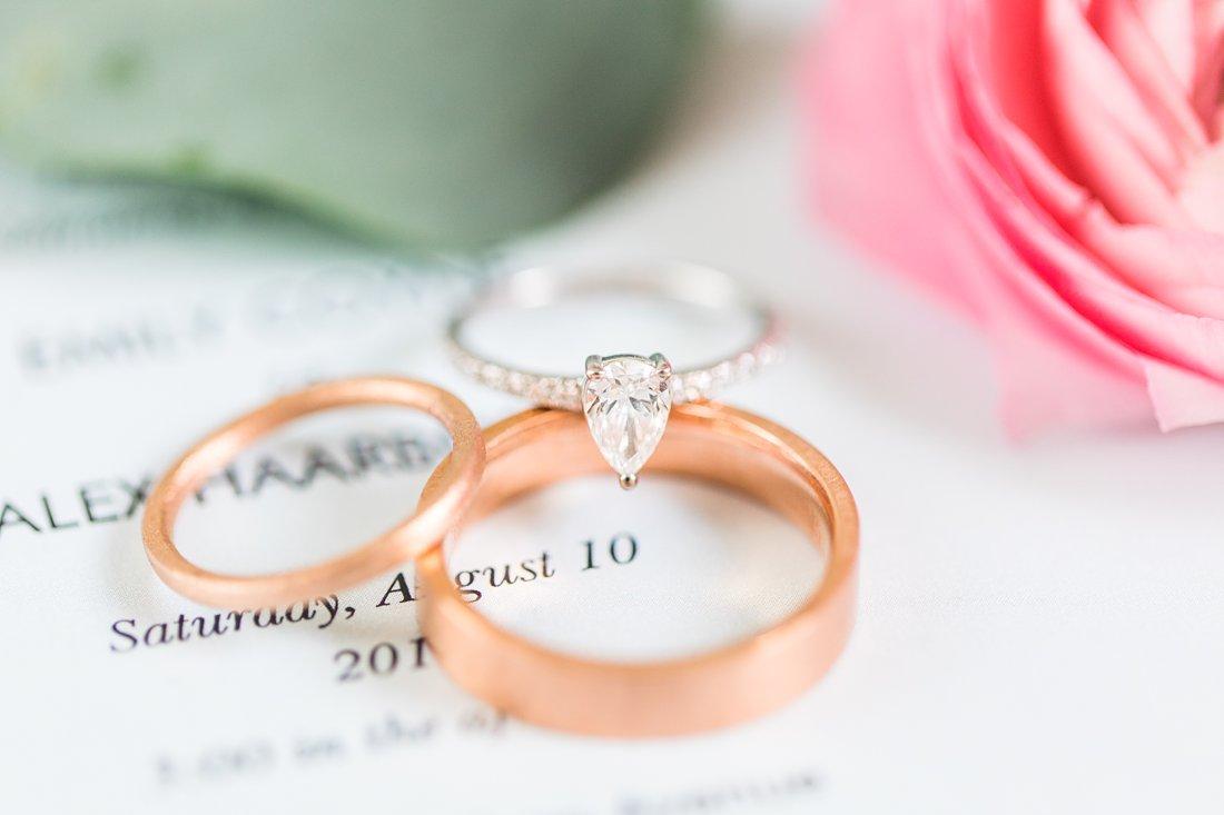 Pear shaped engagement ring, copper wedding bands, Social Restaurant Wedding Photos Ottawa