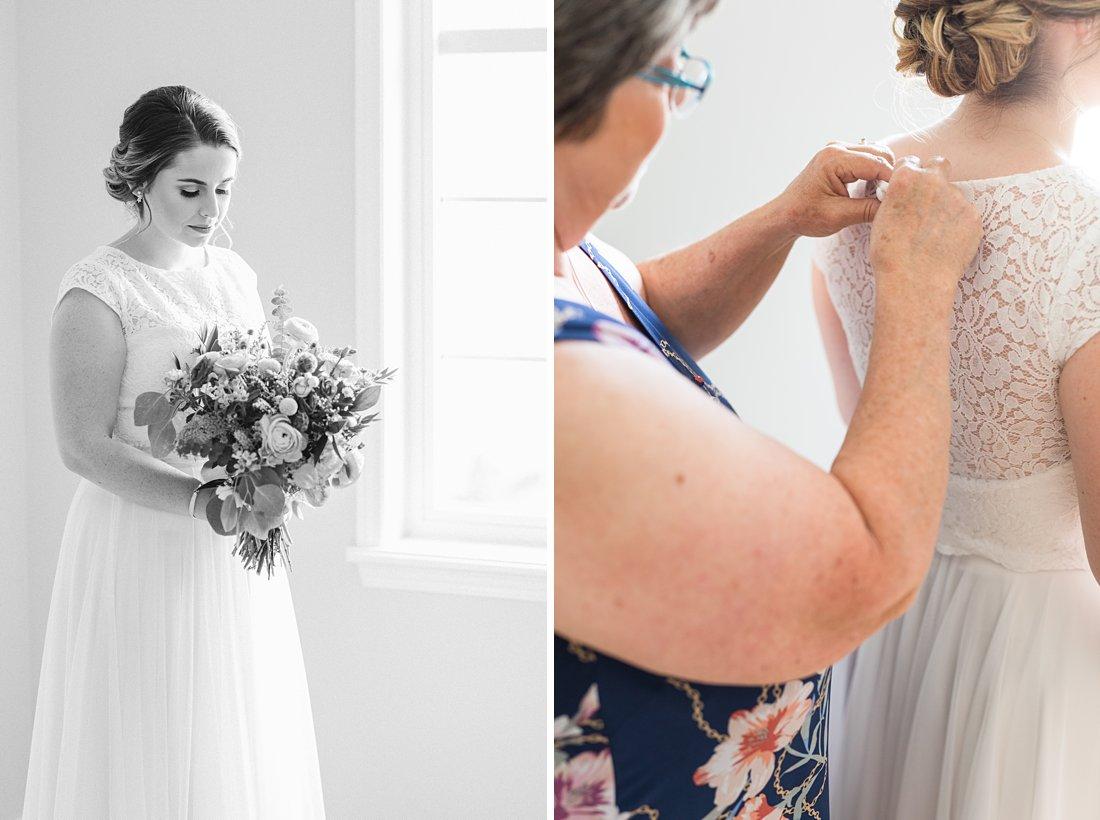 Black and white bride prep, Social Restaurant Wedding Photos Ottawa