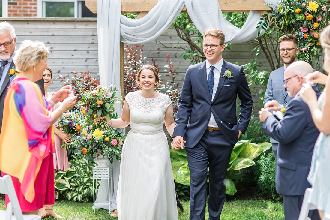 Just married, blowing bubbles, Social Restaurant Wedding Photos Ottawa