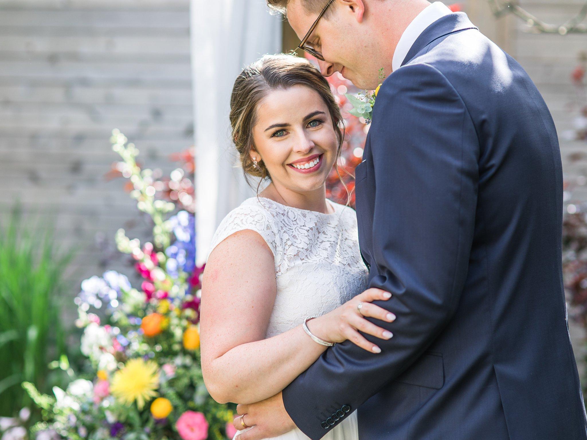 Happy bride on wedding day, Social Restaurant Wedding Photos Ottawa