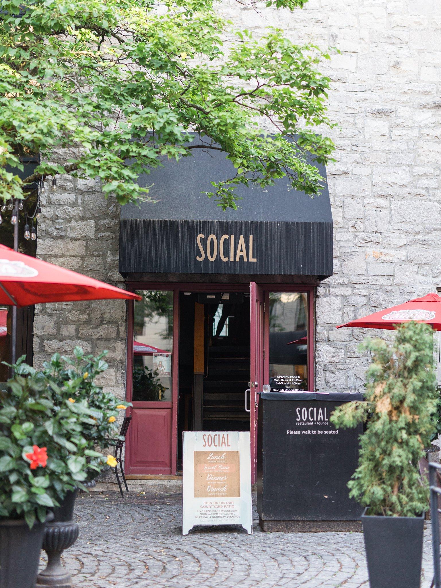 Social Restaurant Wedding Photos Ottawa