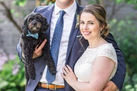 Dog in bowtie, Social Restaurant Wedding Photos Ottawa