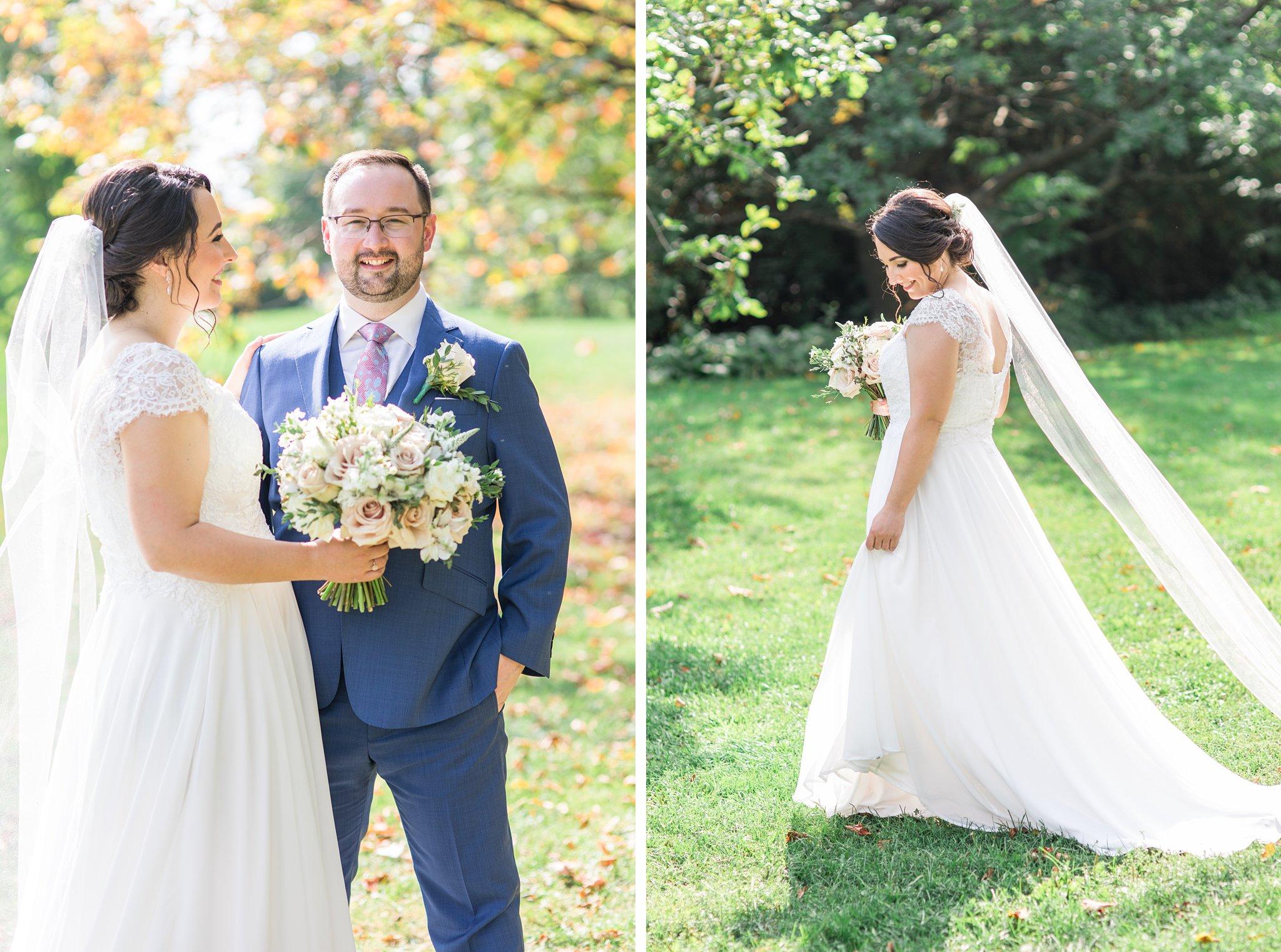 Cathedral veil, wedding colours, Britannia Yacht Club Wedding Photos, Amy Pinder Photography
