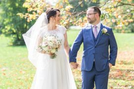 Fall leaves, September wedding, Britannia Yacht Club Wedding Photos, Amy Pinder Photography