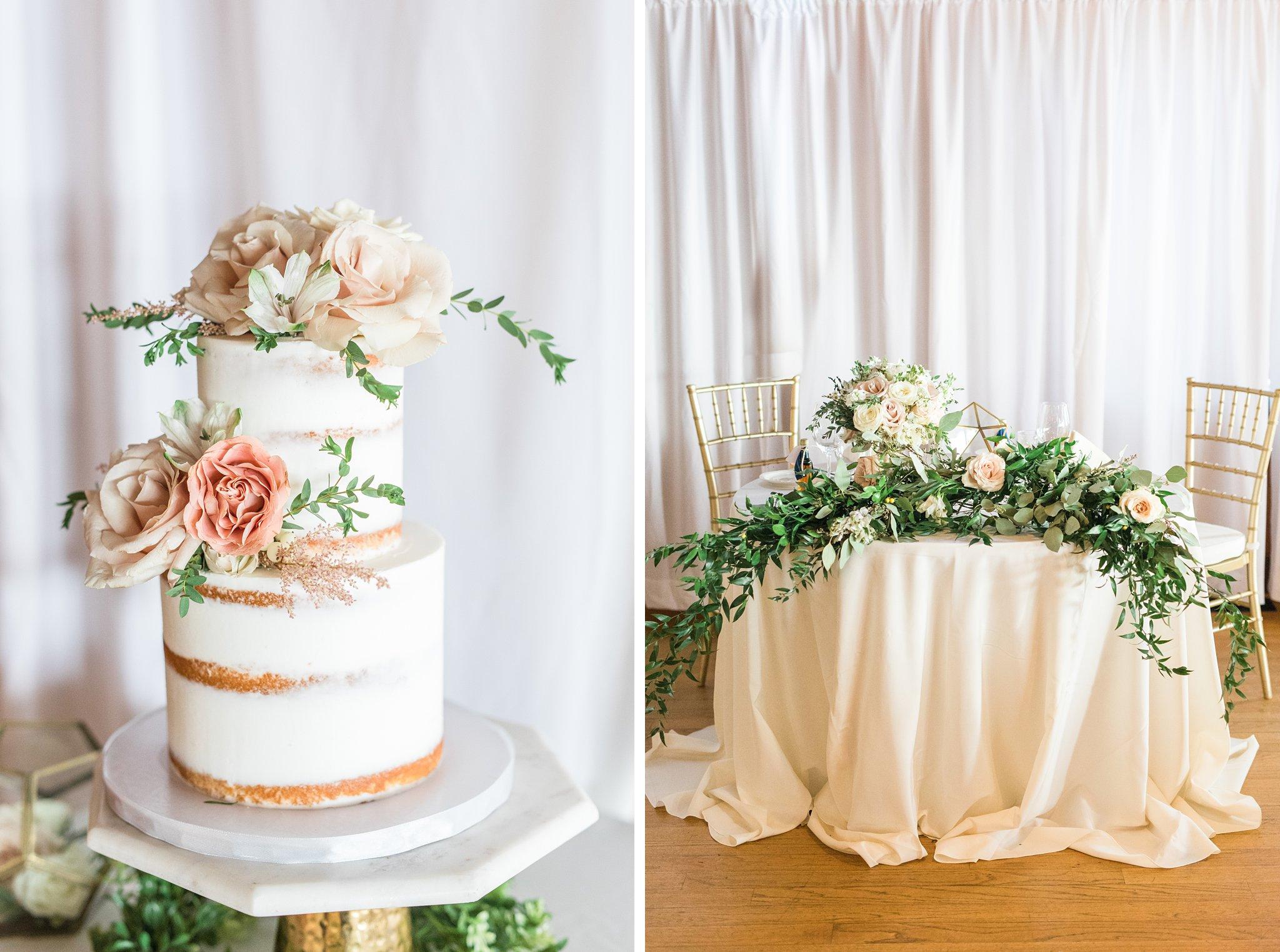 Batter up bakery naked wedding cake, sweetheart table, Britannia Yacht Club Wedding Photos, Amy Pinder Photography