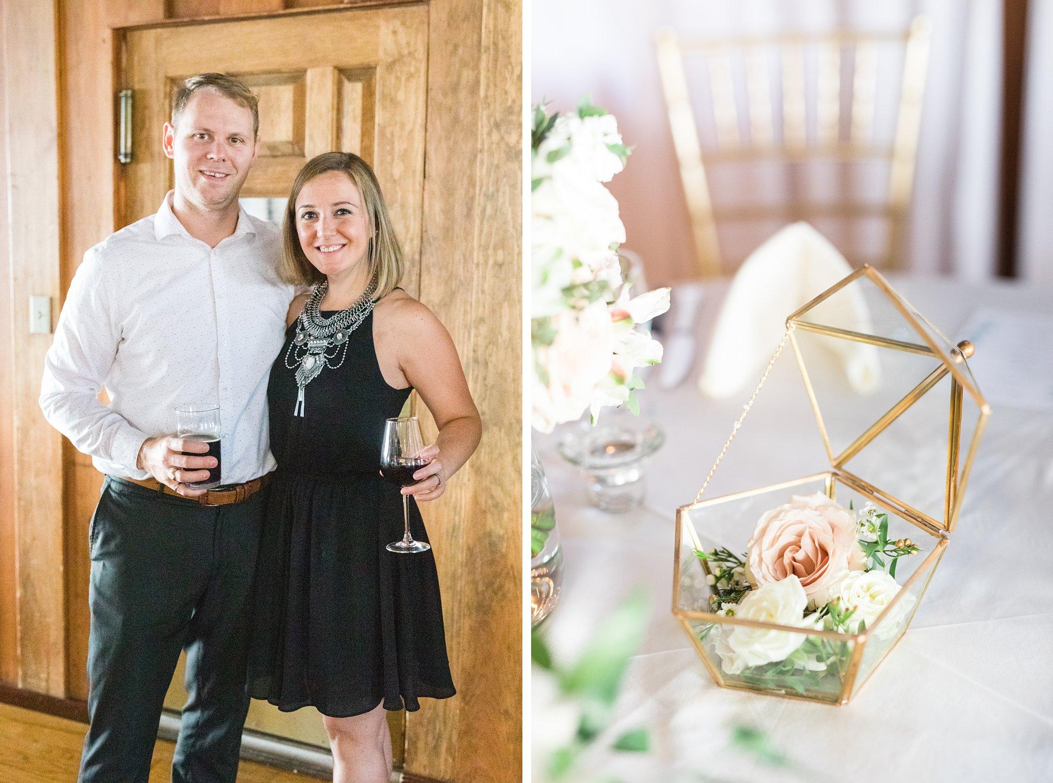 Gold geometric centrepiece, Britannia Yacht Club Wedding Photos, Amy Pinder Photography