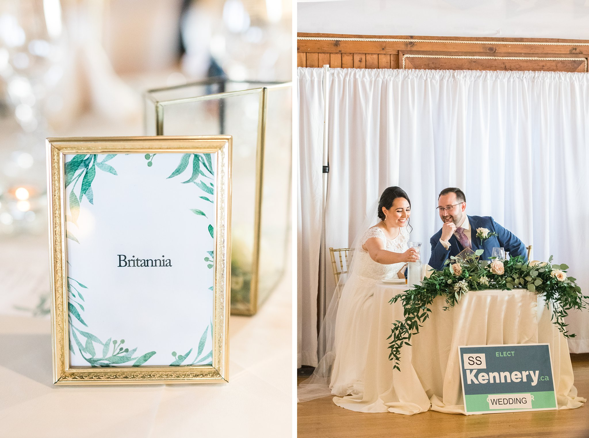Best seating chart idea of how to invite guests to buffet, Britannia Yacht Club Wedding Photos, Amy Pinder Photography