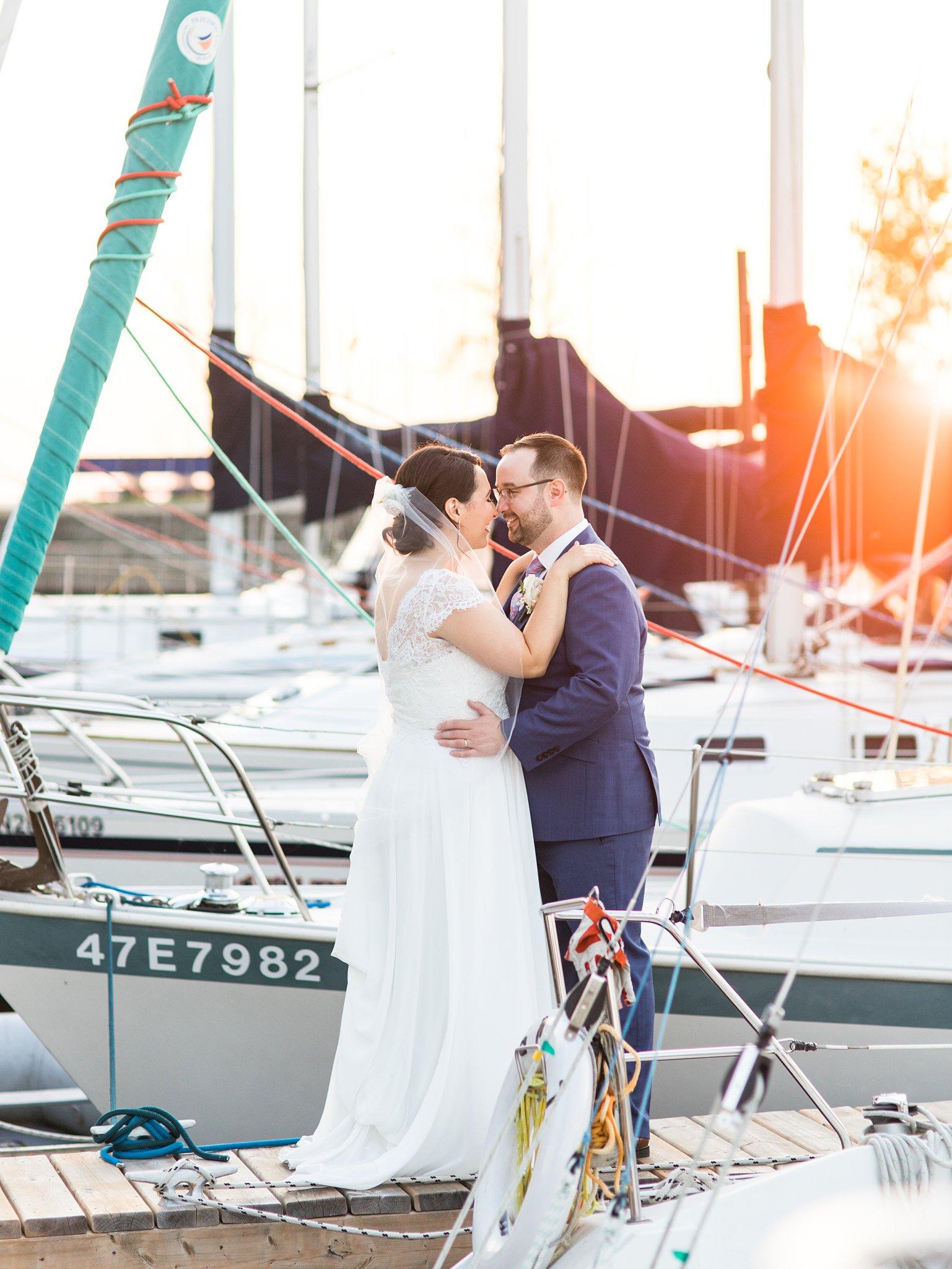 Sunset photos by boats, Britannia Yacht Club Wedding Photos, Amy Pinder Photography