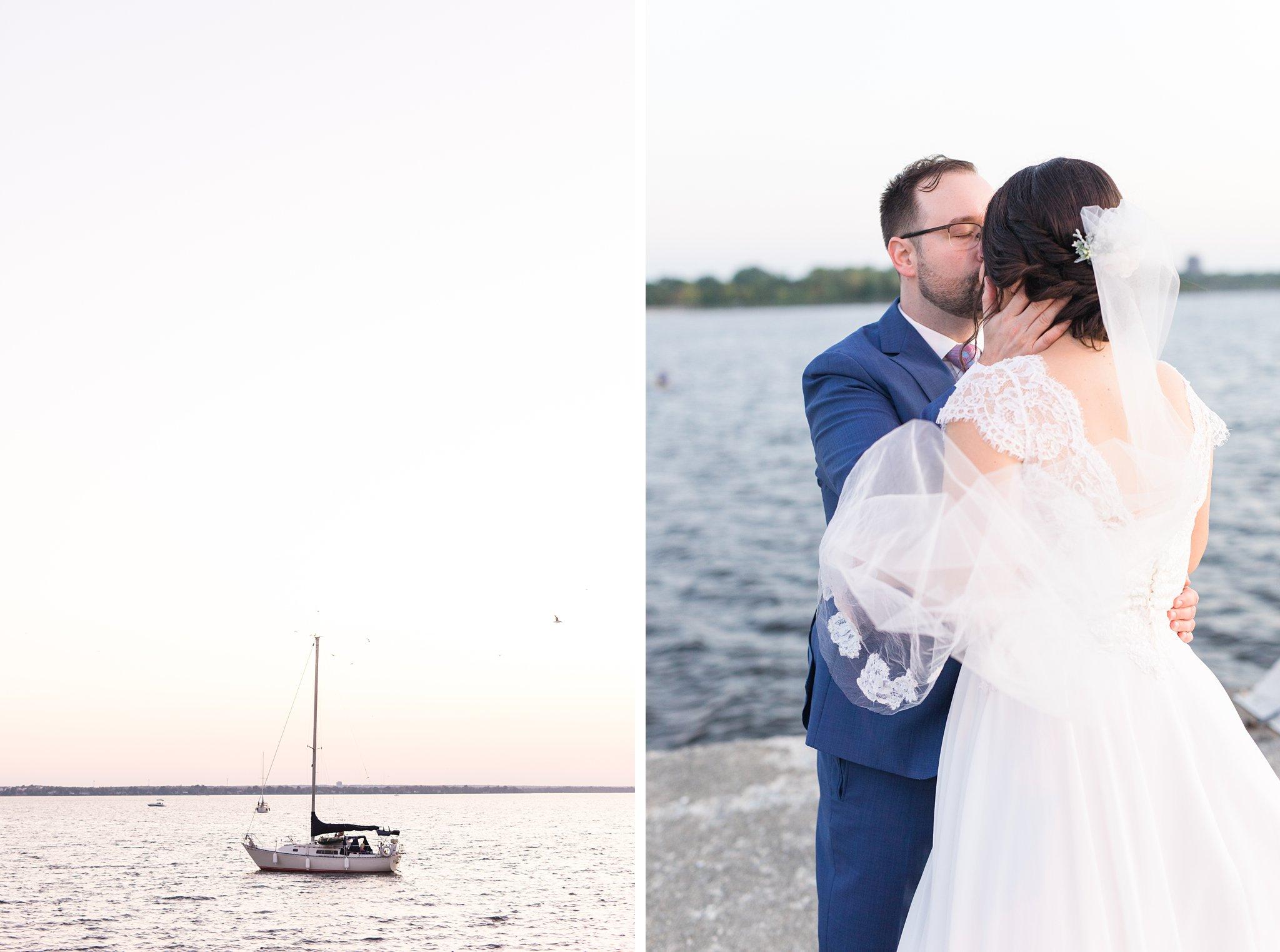 Sunset, Britannia Yacht Club Wedding Photos, Amy Pinder Photography