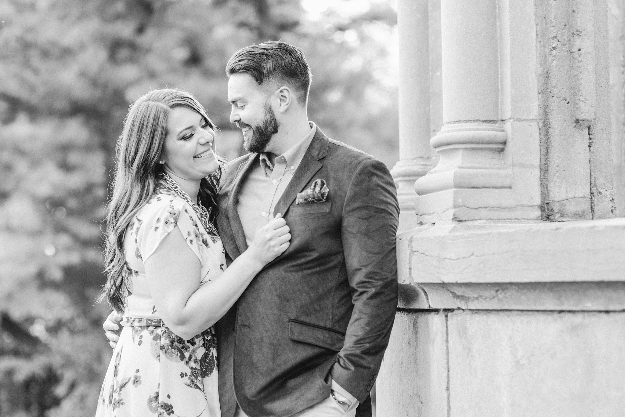 Laughing bride, Mackenzie King Estate Engagement Photos by Amy Pinder Photography