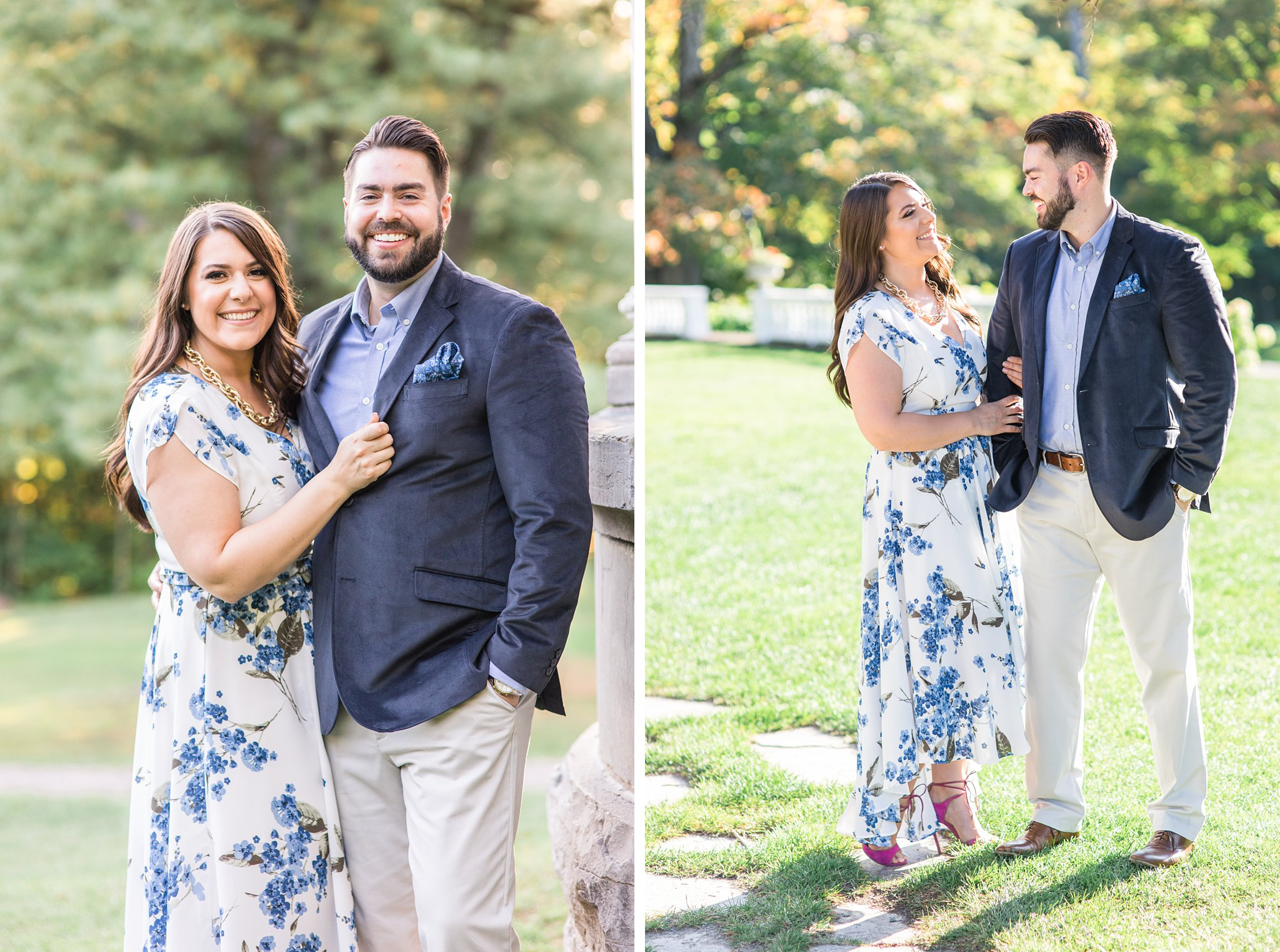 Bride and groom, Mackenzie King Estate Engagement Photos by Amy Pinder Photography