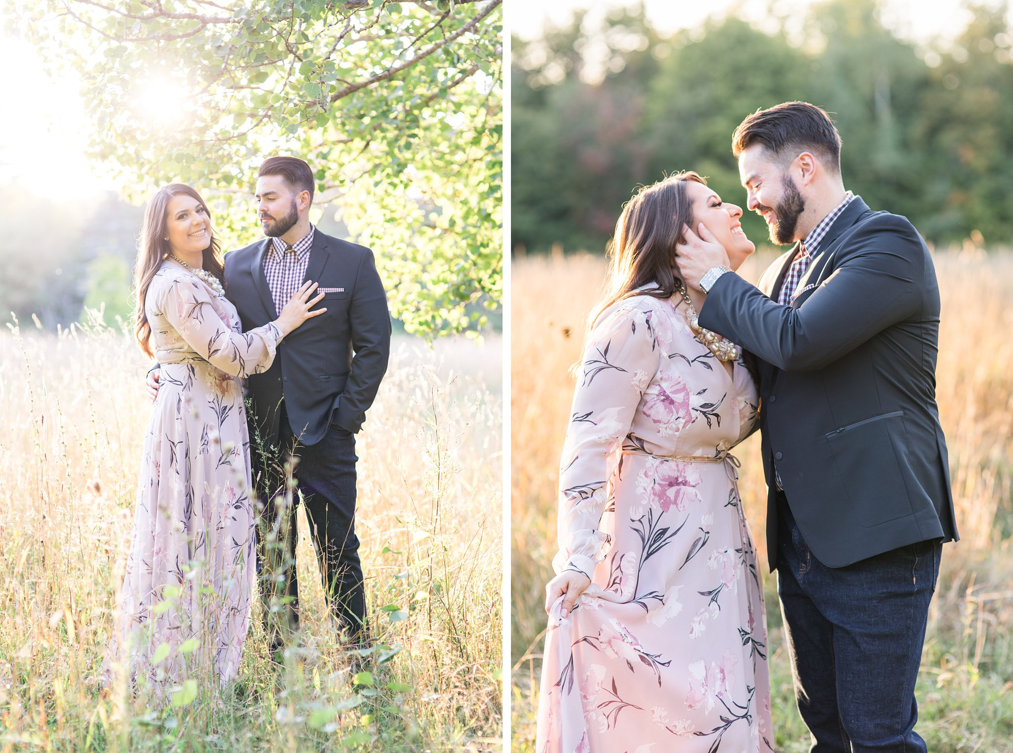 Sunset kiss, Mackenzie King Estate Engagement Photos by Amy Pinder Photography