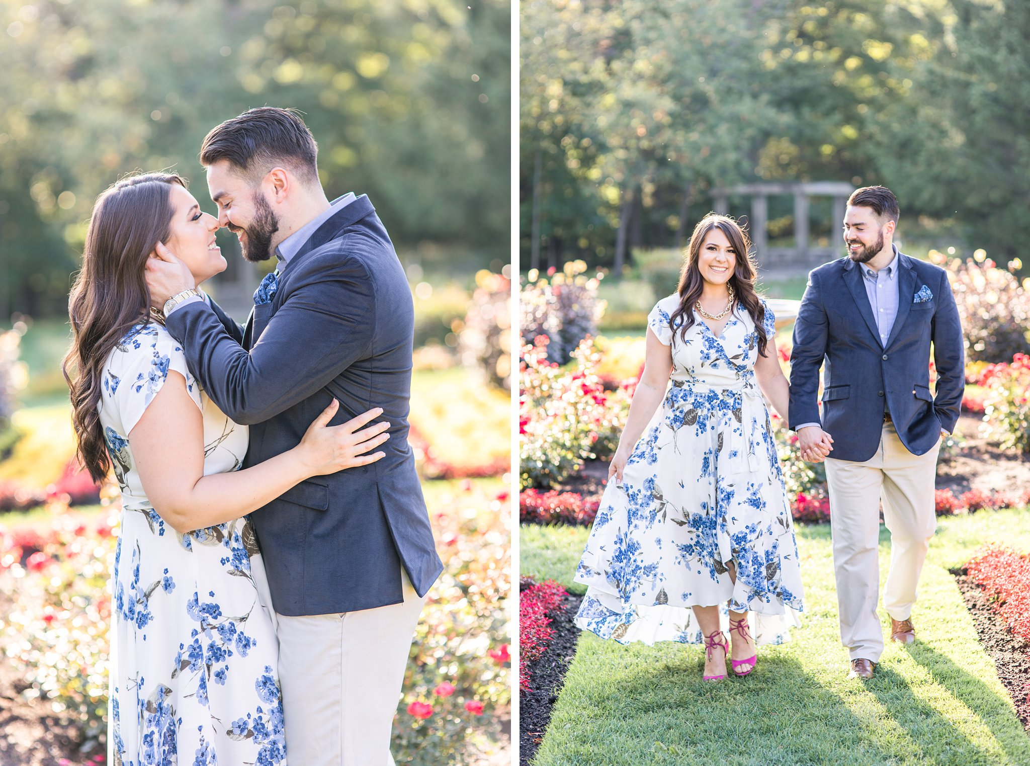 French gardens of Mackenzie King Estate Engagement Photos by Amy Pinder Photography