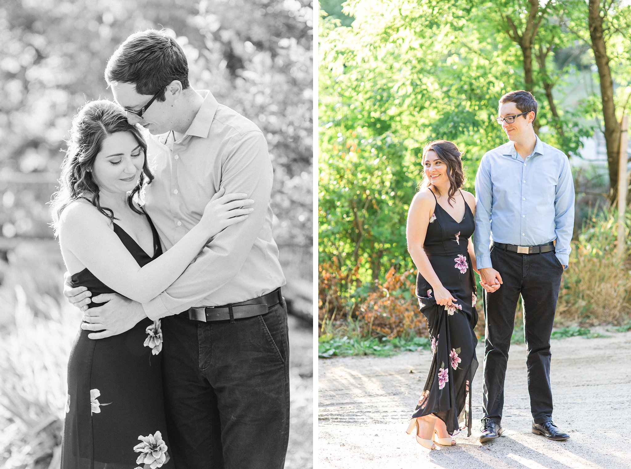 Black dress, Wakefield Mill Engagement Photos, Amy Pinder Photography