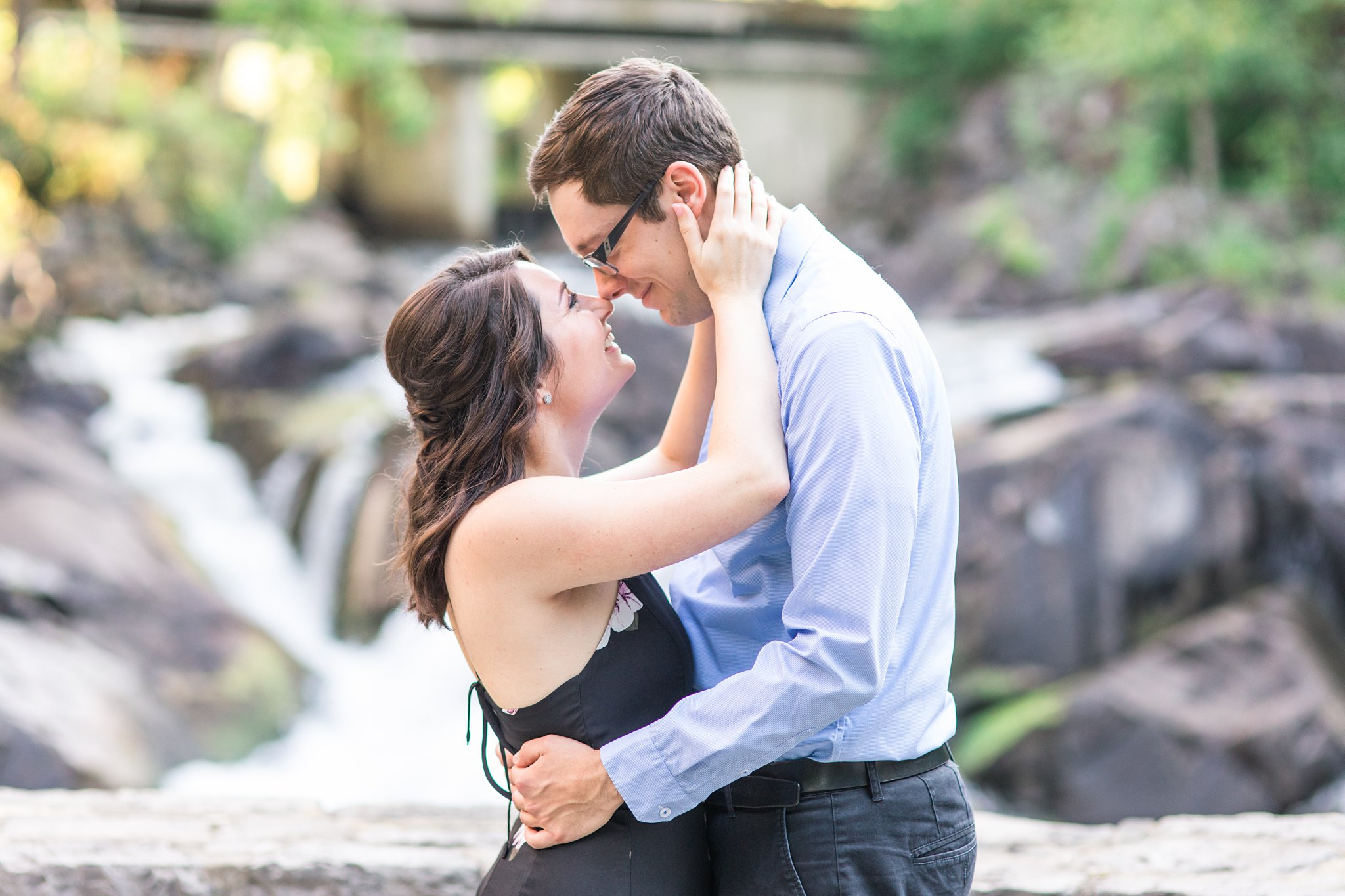 Falls, Wakefield Mill Engagement Photos, Amy Pinder Photography