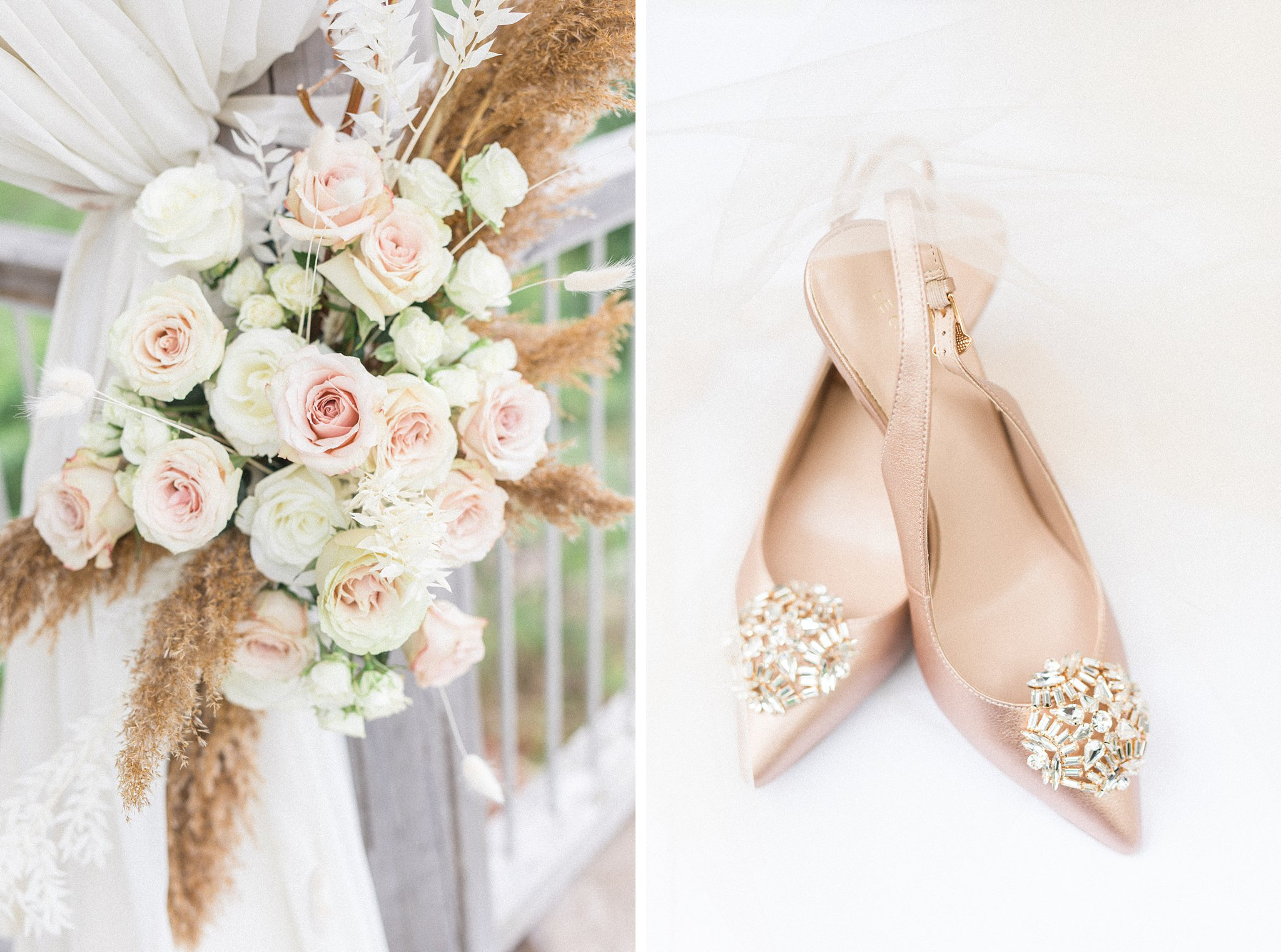 Clip on shoe gem, dried grasses, ceremony, Wakefield wedding photos, Le Belvedere