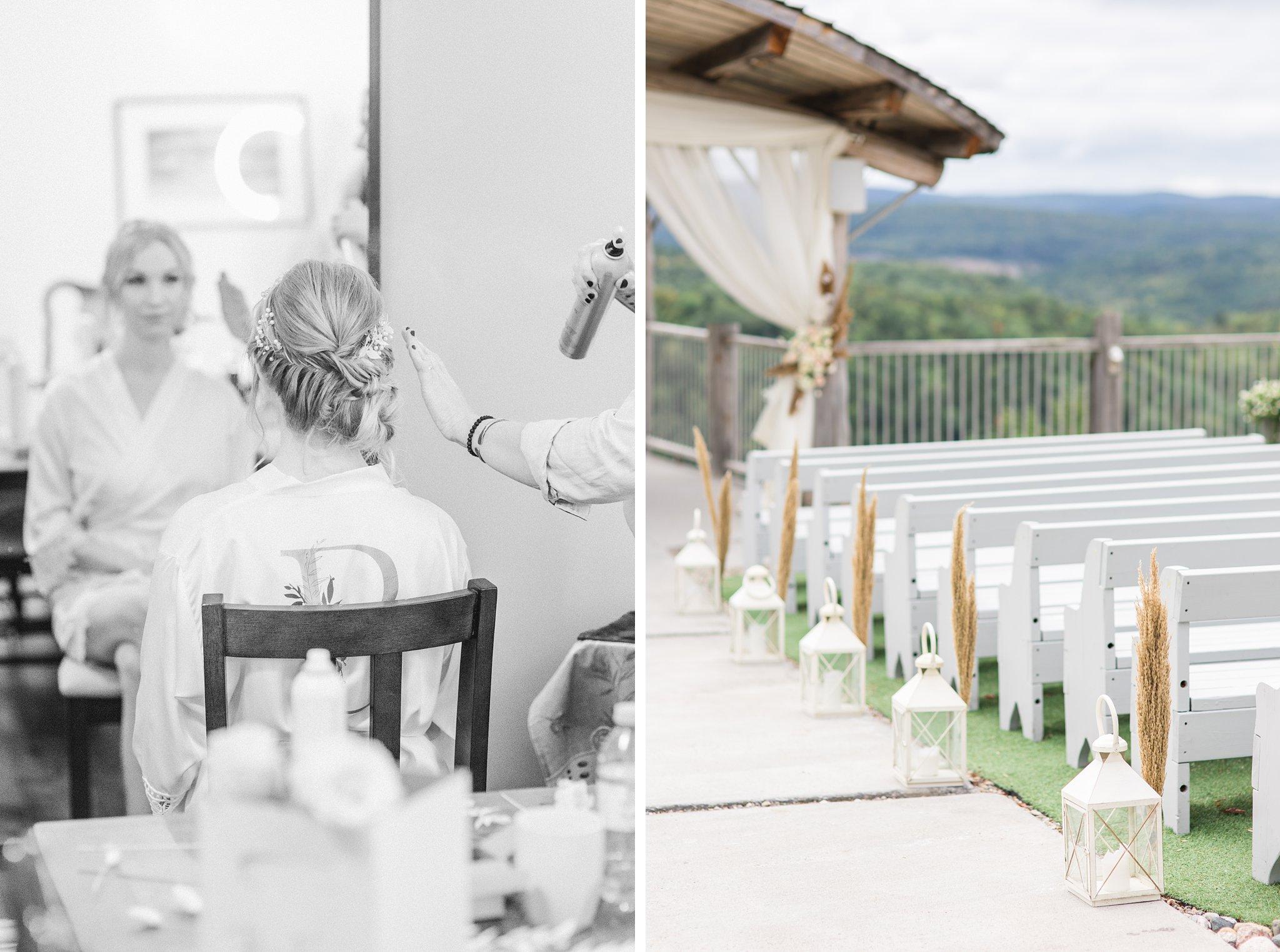 Dried grasses, wedding ceremony, Wakefield wedding photos, Le Belvedere