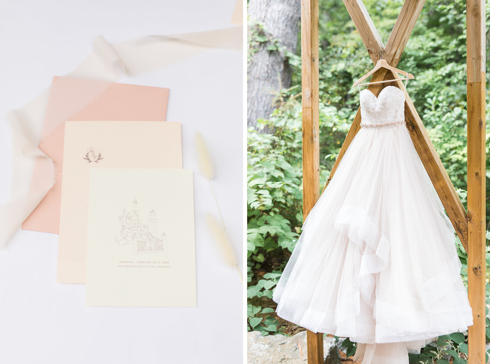 Moscato ball gown, off white, Wakefield wedding photos, Le Belvedere
