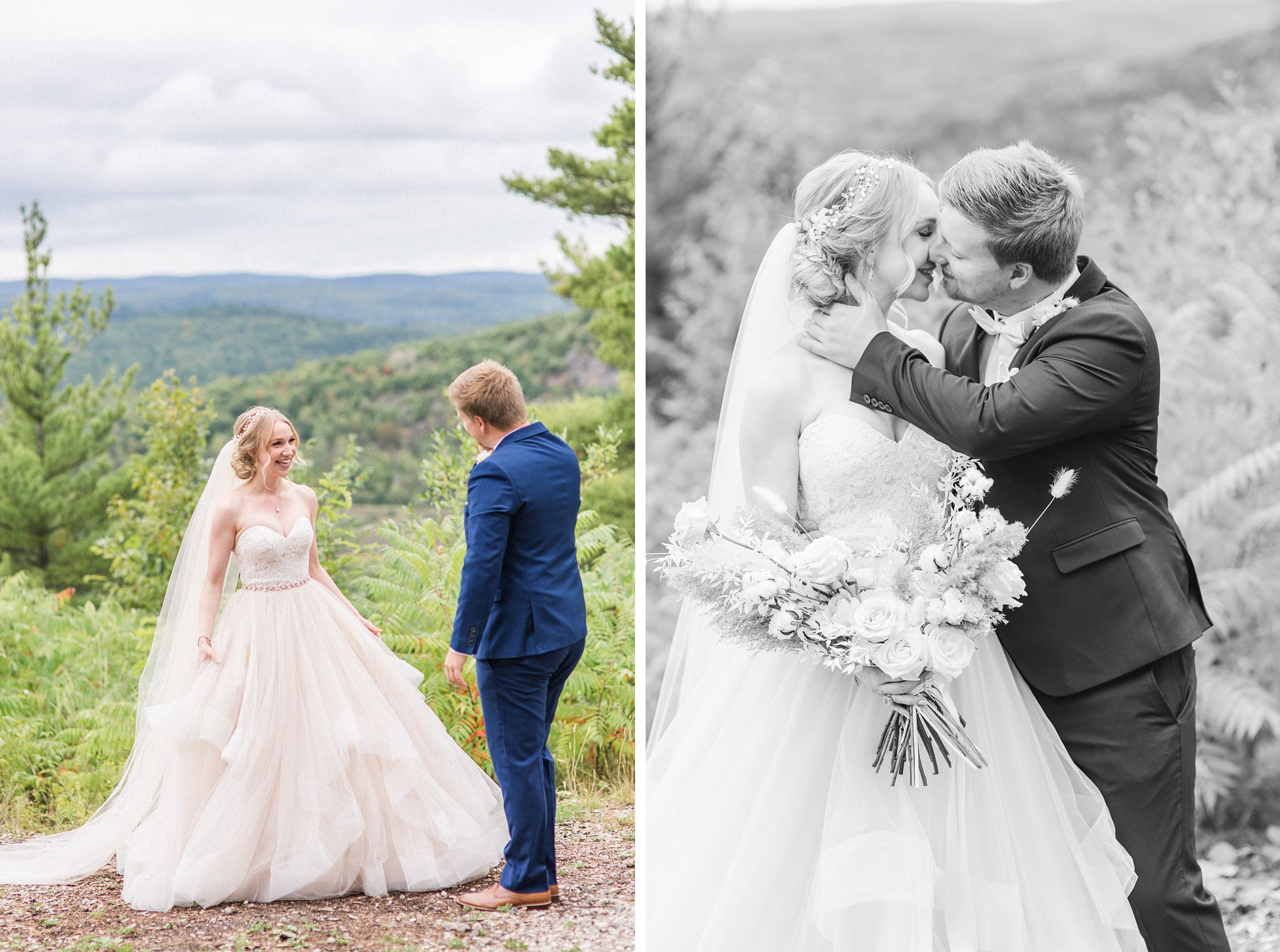 First look reaction, Wakefield wedding photos, Le Belvedere
