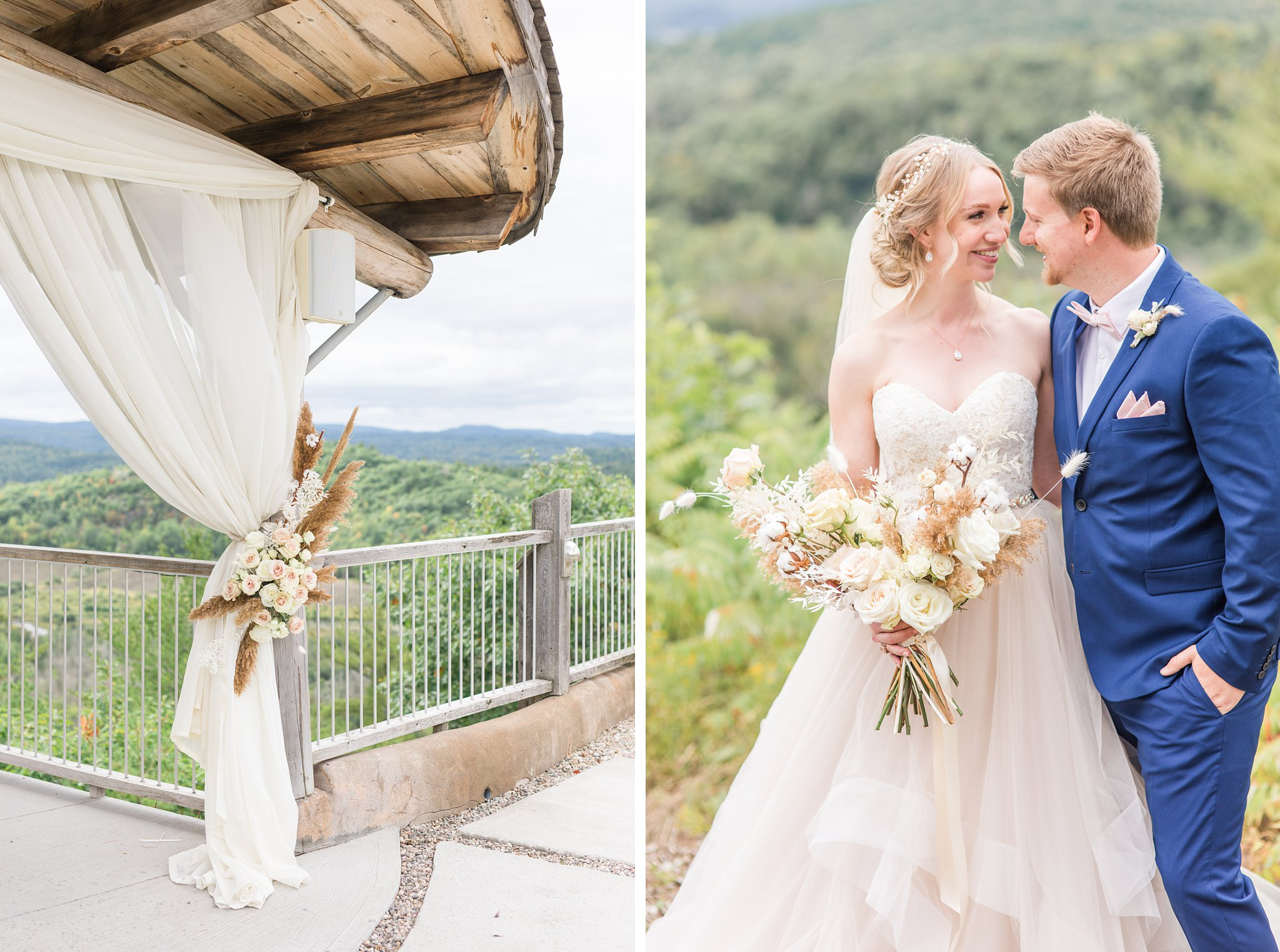 Dried grasses, roses, blush, muted, Wakefield wedding photos, Le Belvedere