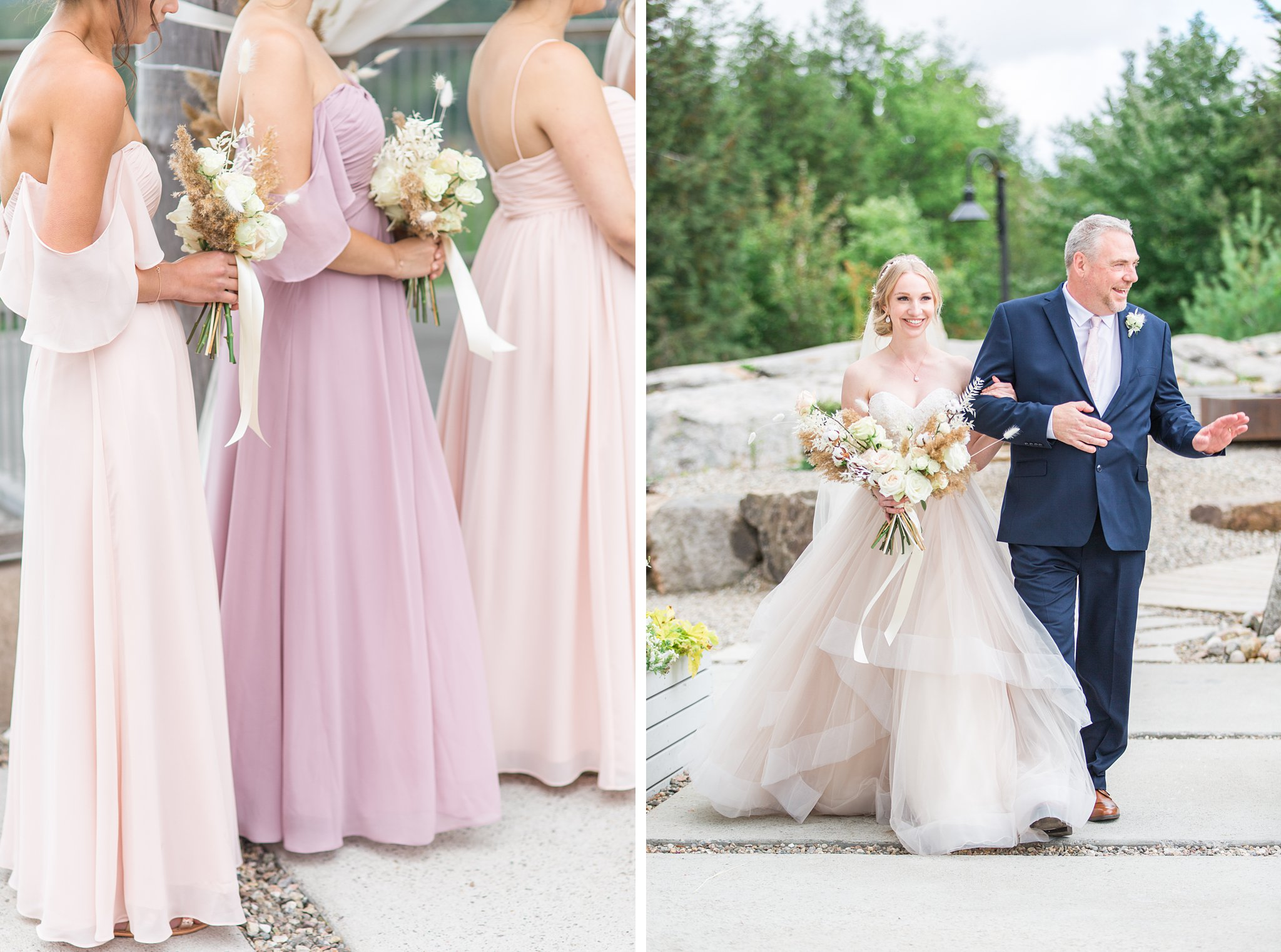 Father walks bride down the aisle, Wakefield wedding photos, Le Belvedere