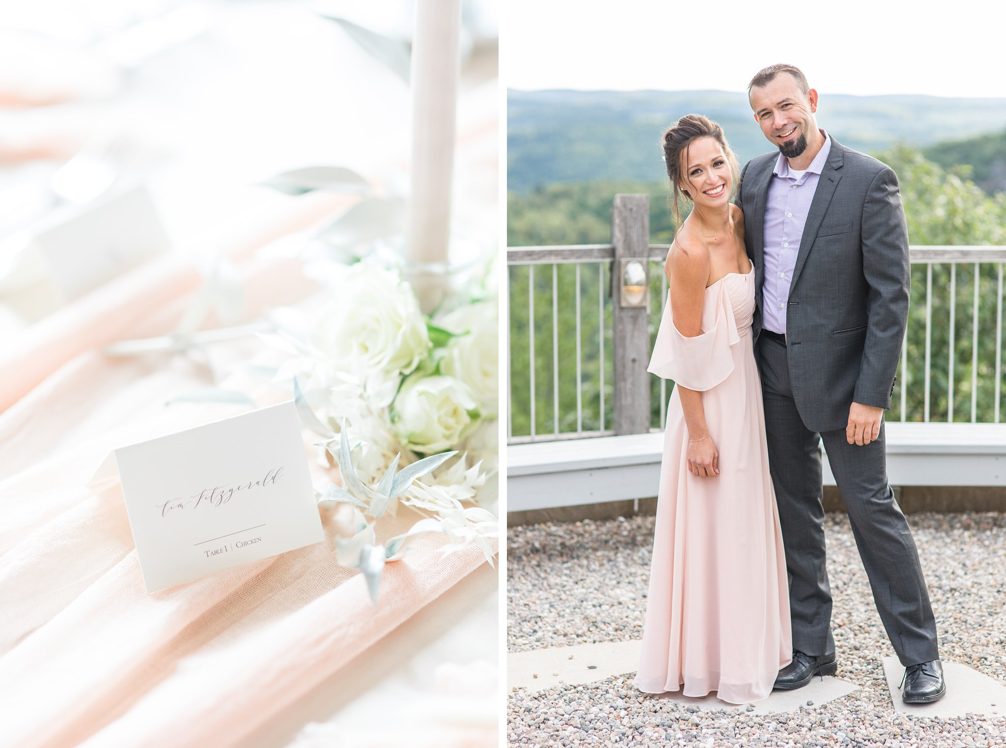 La Fabere seating number, Wakefield wedding photos, Le Belvedere