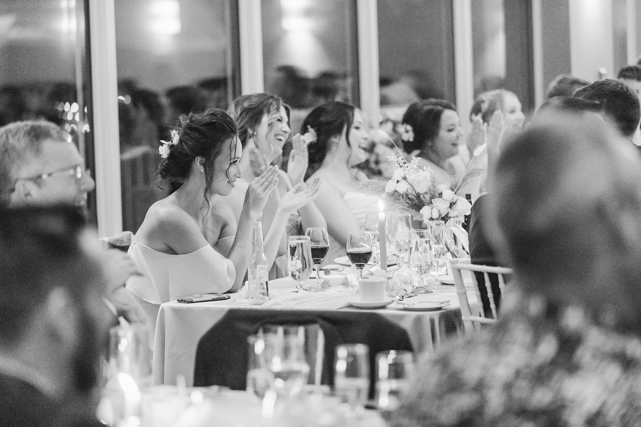 Black and white, head table, Wakefield wedding photos, Le Belvedere
