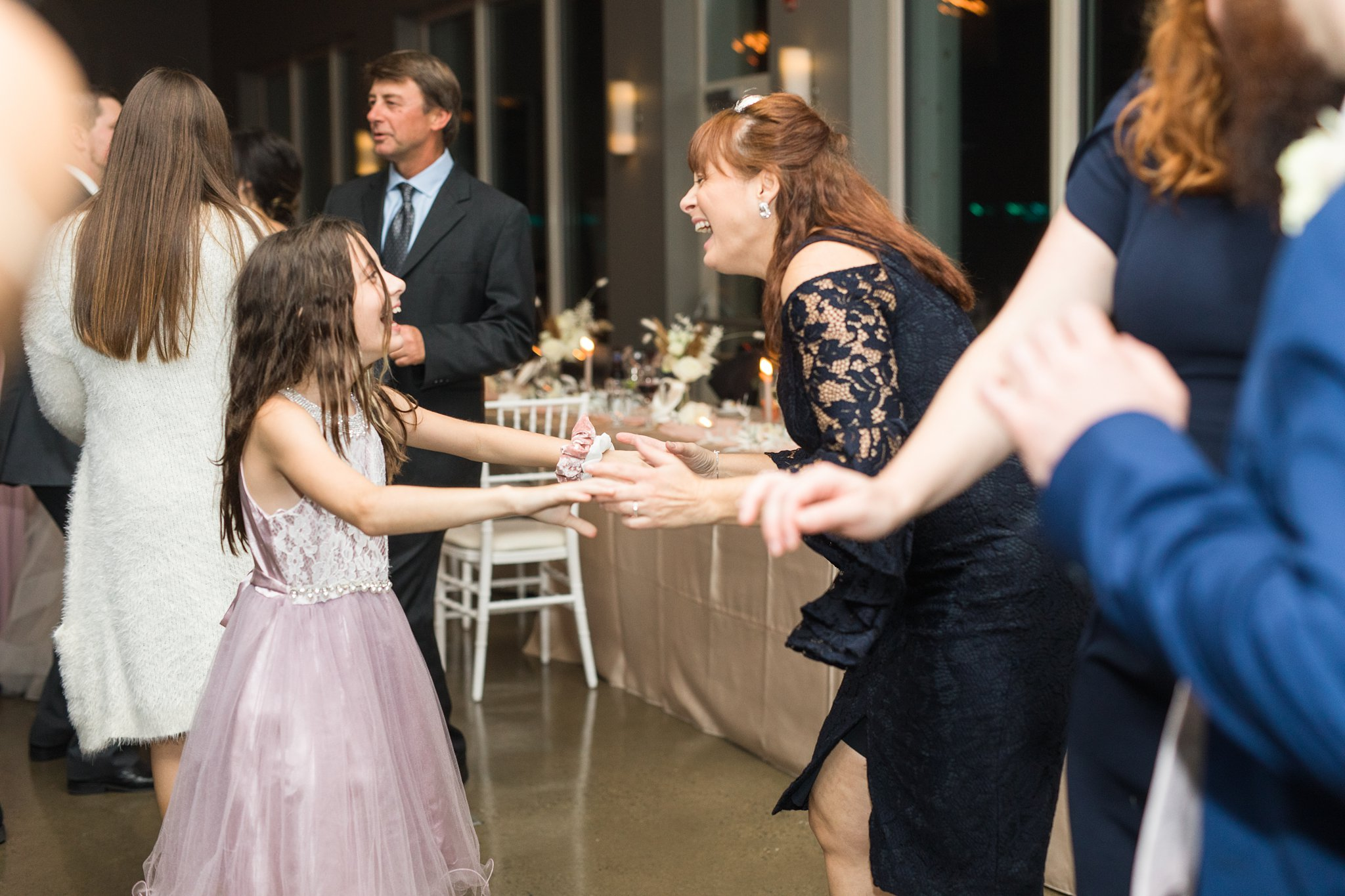 Mother and daughter dance at reception, Wakefield wedding photos, Le Belvedere