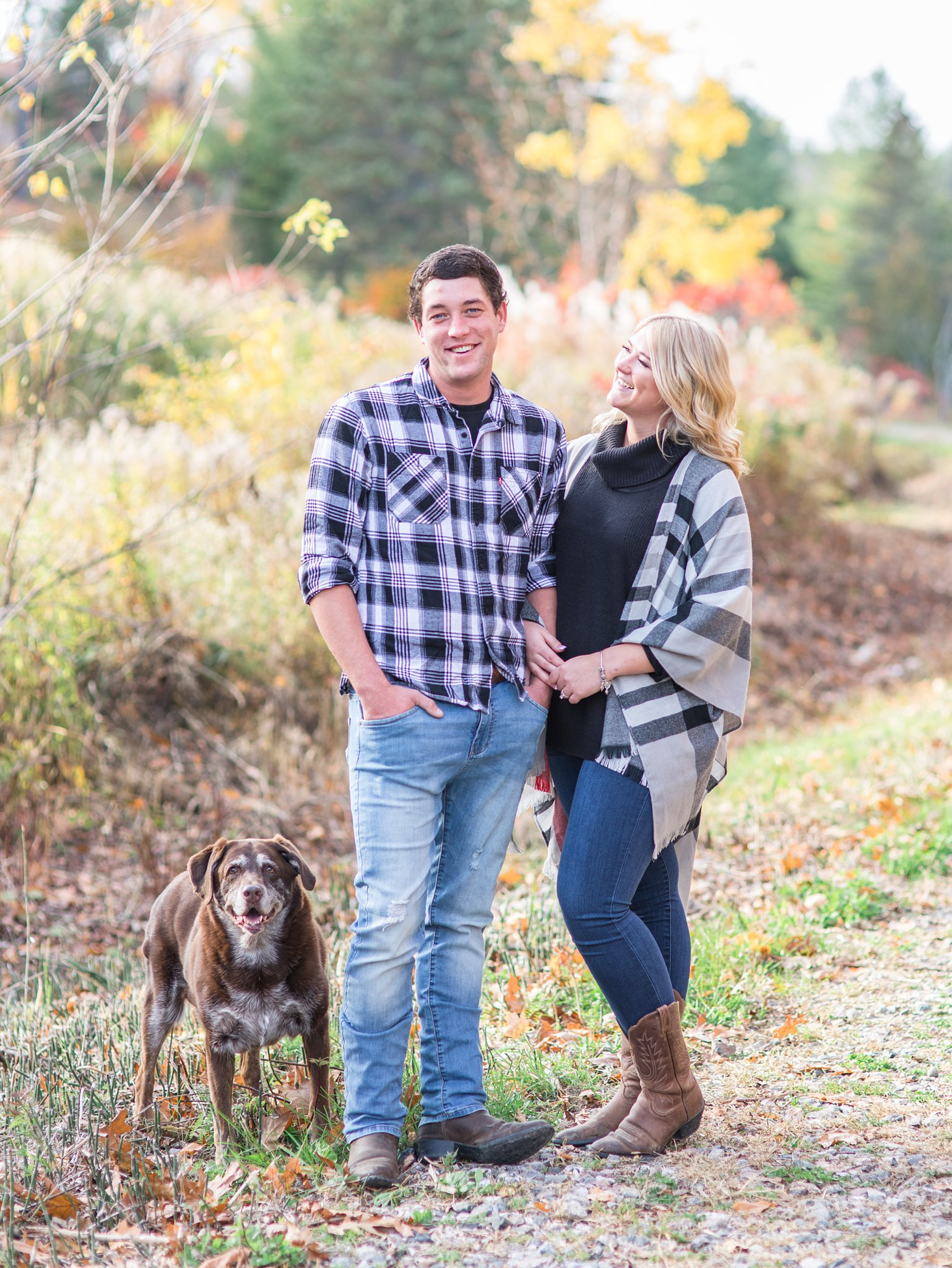 Old chocolate lab Old Chelsea Engagement Photos by Amy Pinder Photography