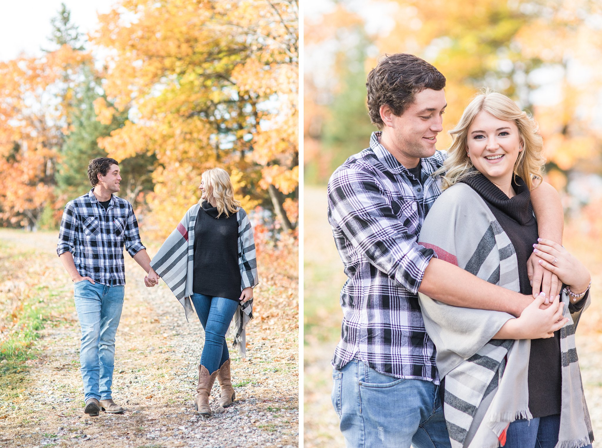 Walk along old railway line Old Chelsea Engagement Photos by Amy Pinder Photography
