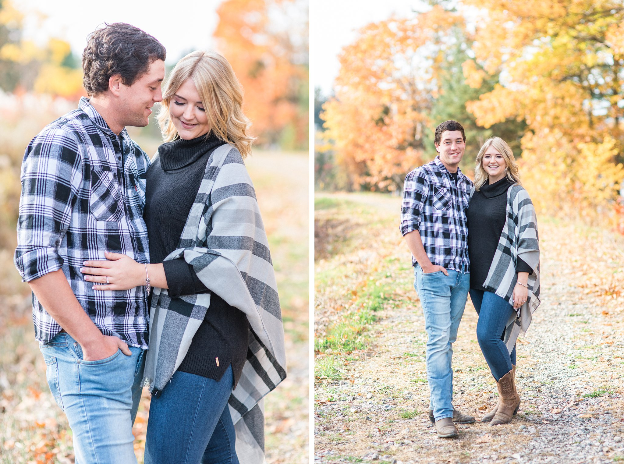 Grey shawl and turtle neck Old Chelsea Engagement Photos by Amy Pinder Photography
