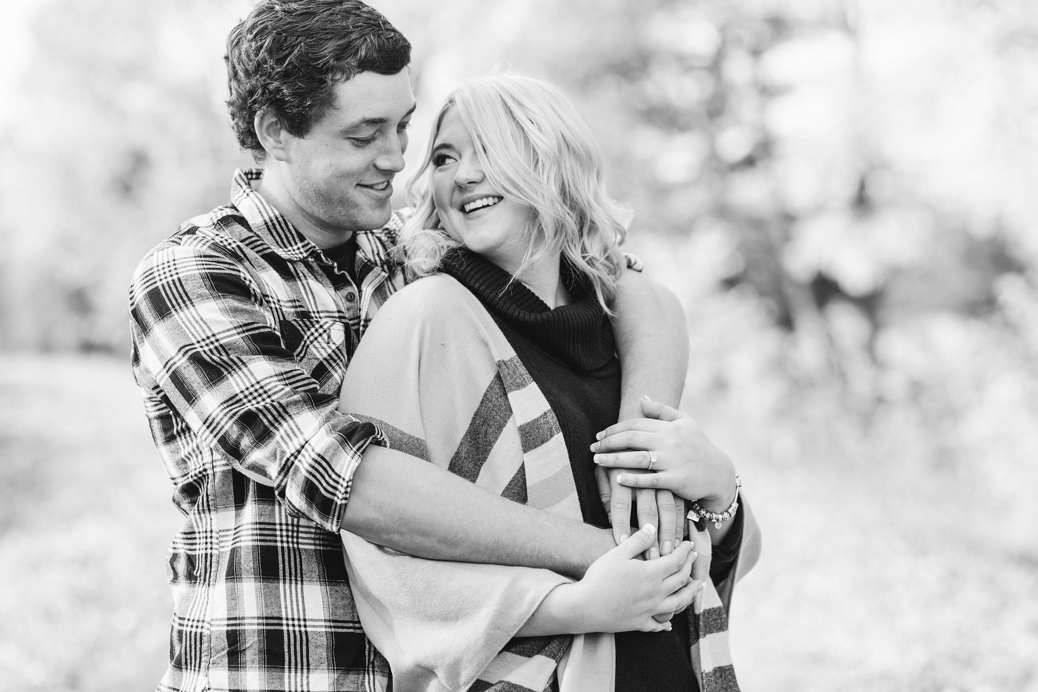 Black and white Old Chelsea Engagement Photos by Amy Pinder Photography