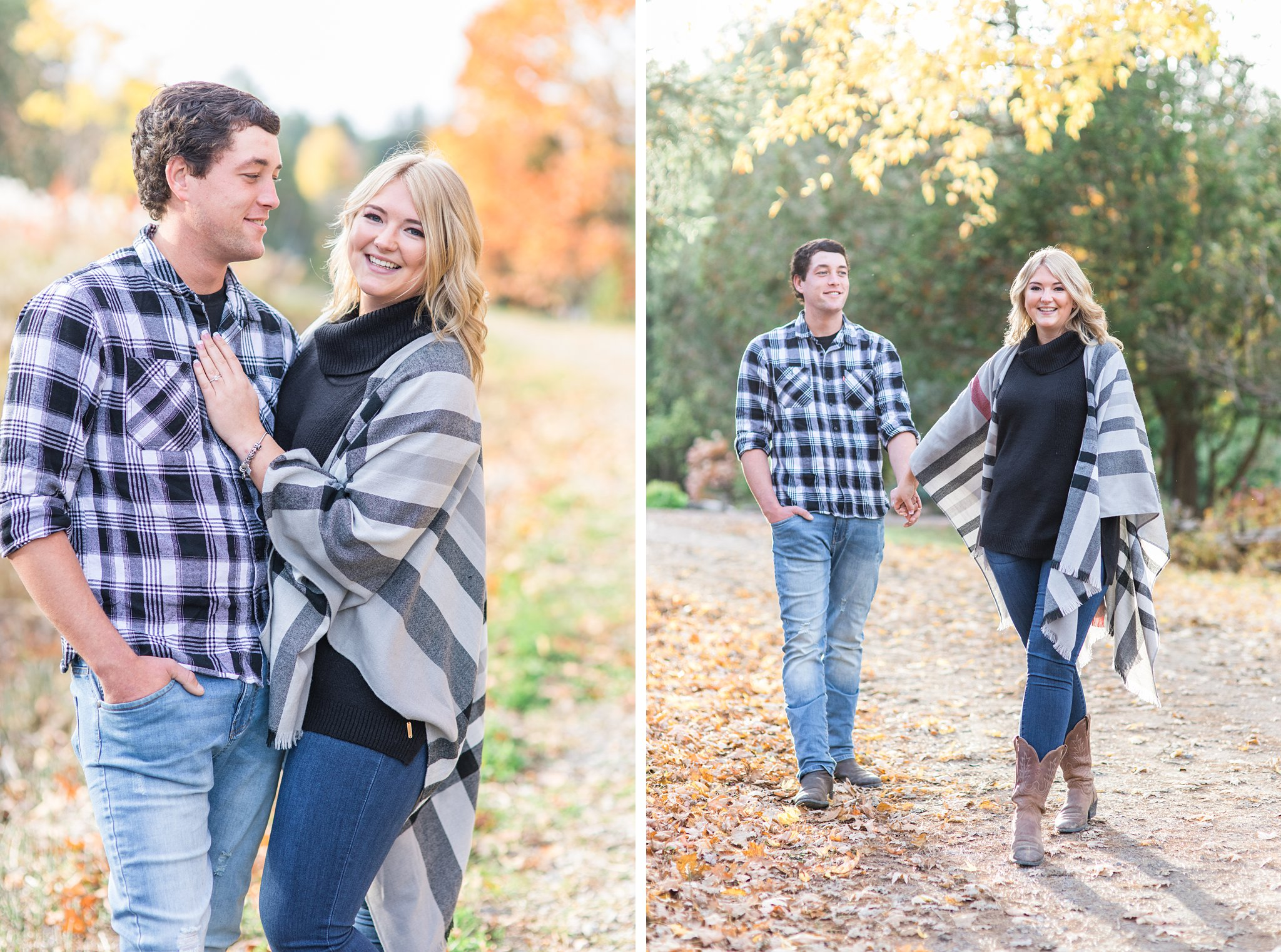 Grey shawl Old Chelsea Engagement Photos by Amy Pinder Photography